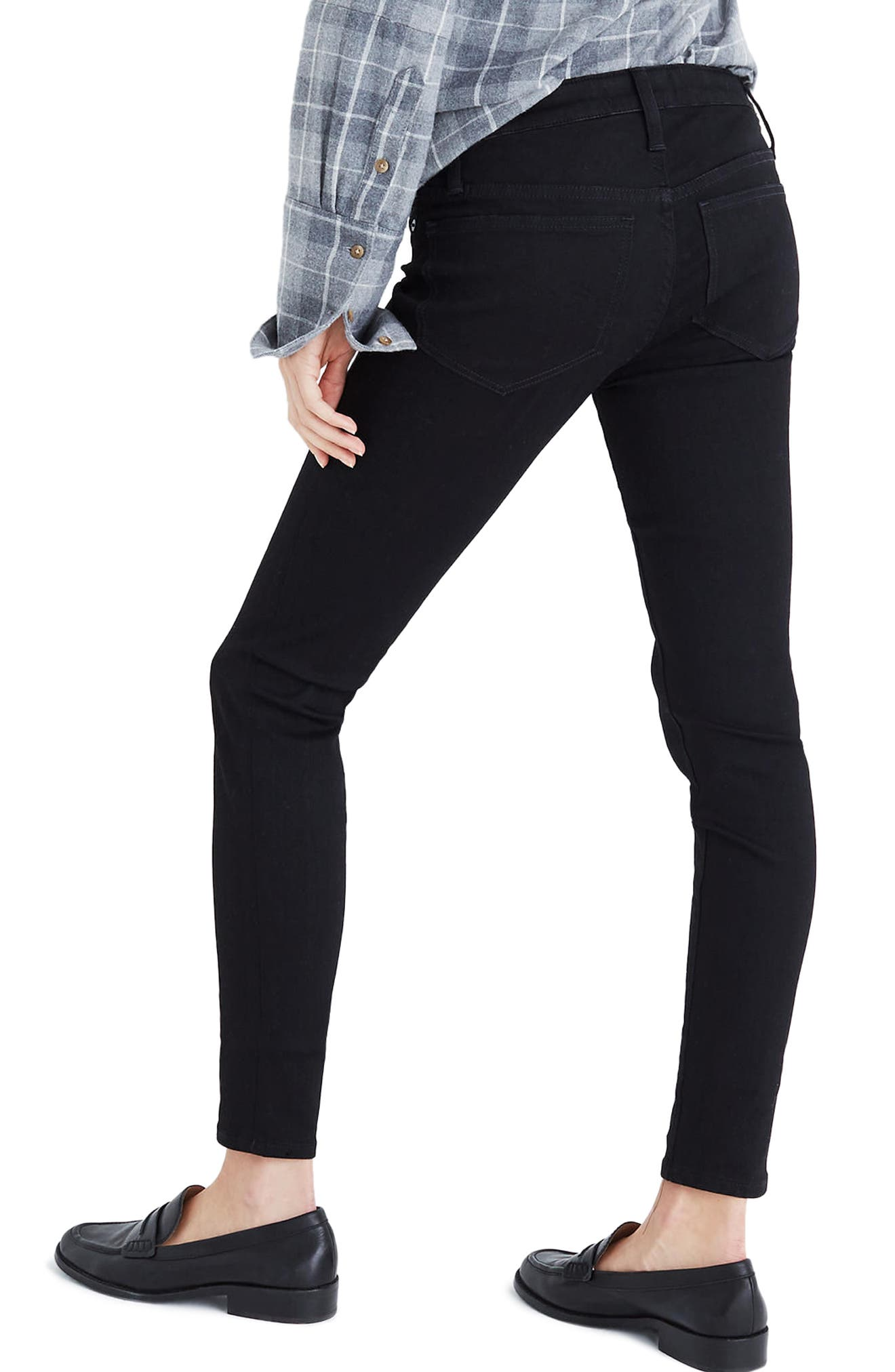Maternity Skinny Jeans,                             Alternate thumbnail 2, color,                             Black Frost