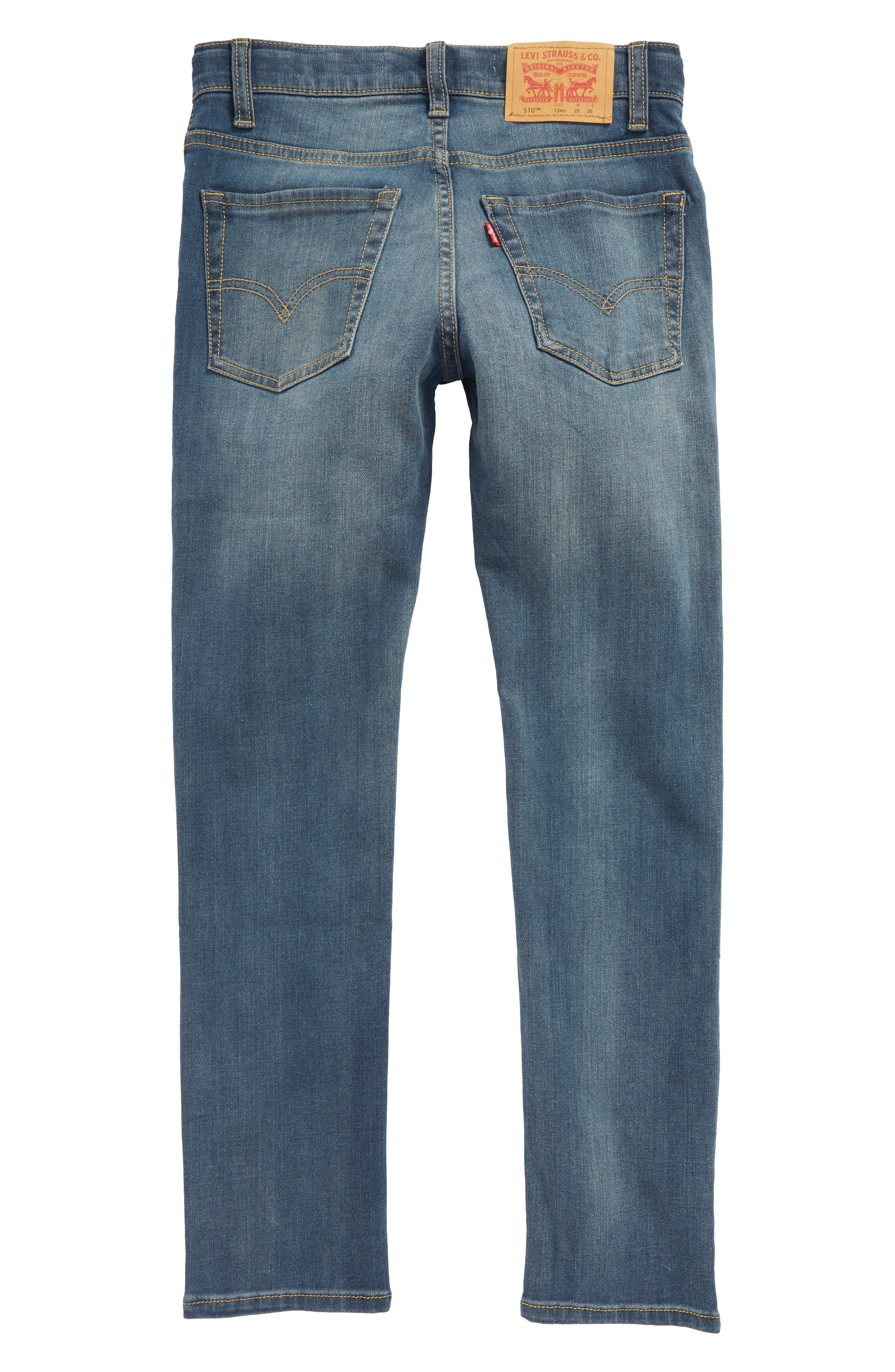 510<sup>™</sup> Skinny Fit Jeans,                             Alternate thumbnail 2, color,                             A Blue