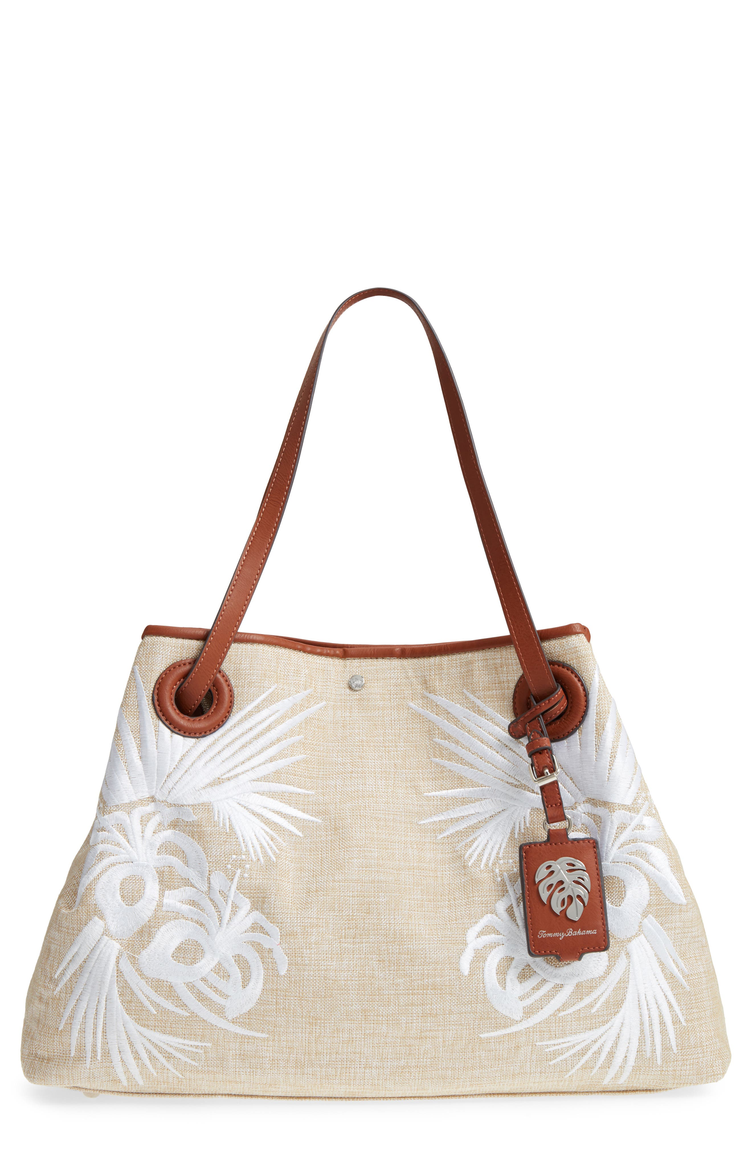 Alternate Image 1 Selected - Tommy Bahama Waikiki Embroidered Canvas Tote