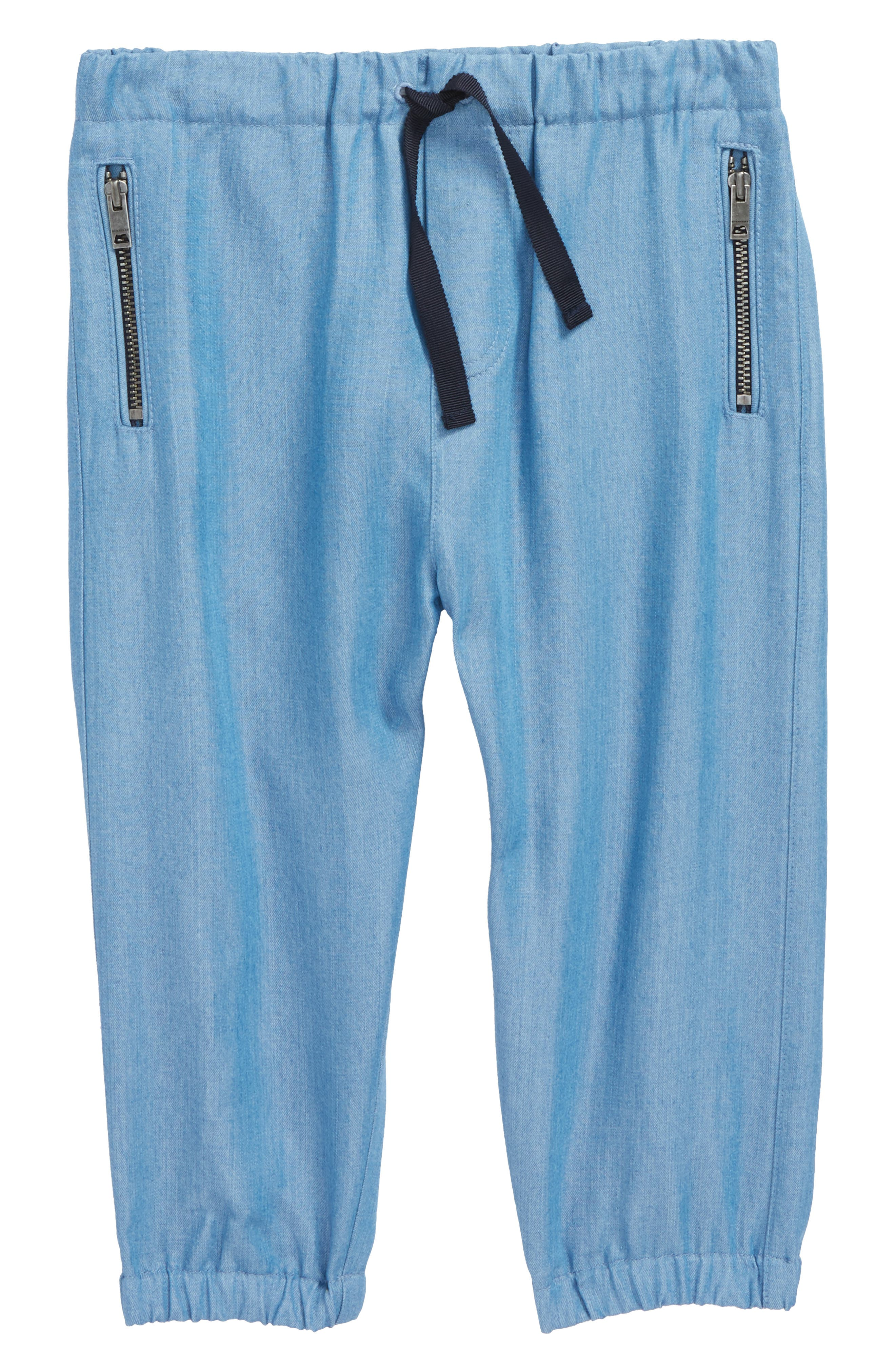 Mini Phillie Chambray Pants,                         Main,                         color, Steel Blue
