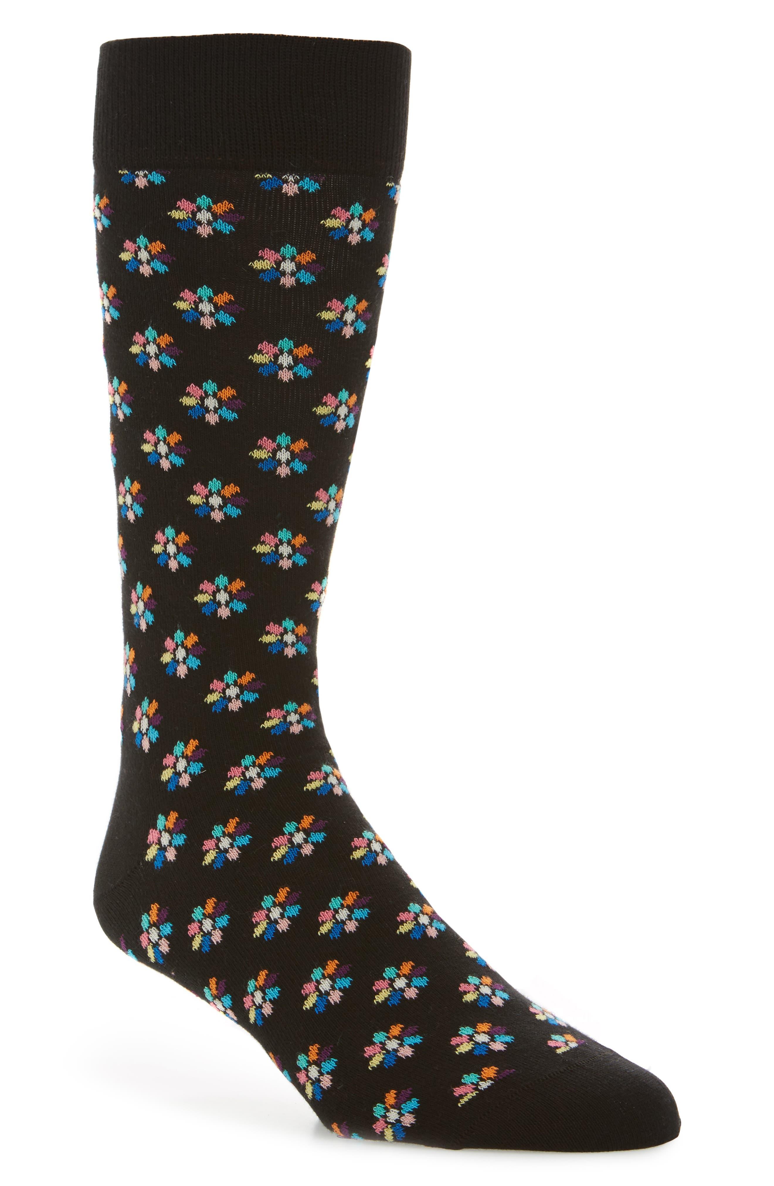 Alternate Image 1 Selected - Happy Socks Mini Flower Crew Socks