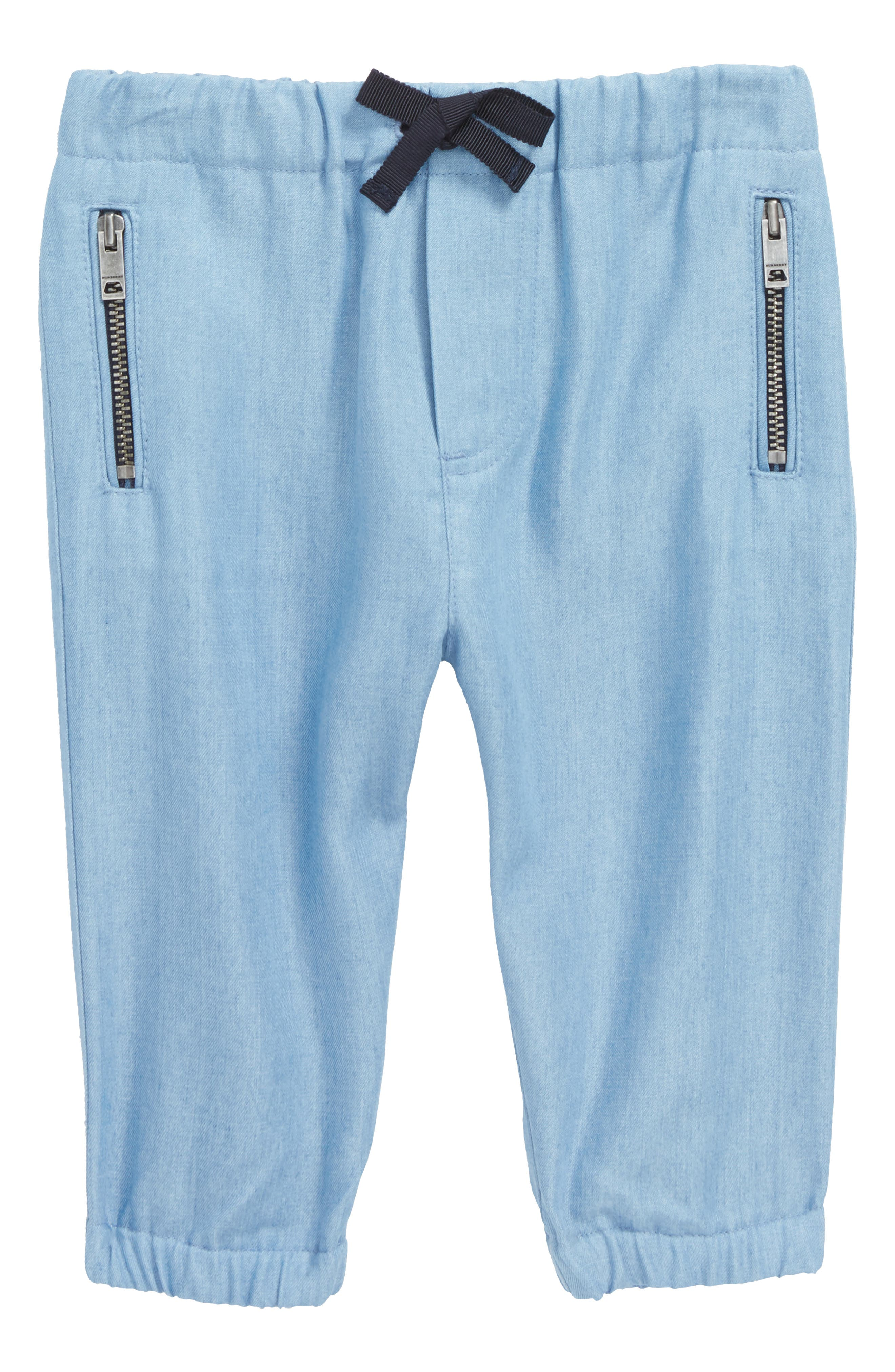Mini Phillie Chambray Pants,                             Main thumbnail 1, color,                             Steel Blue