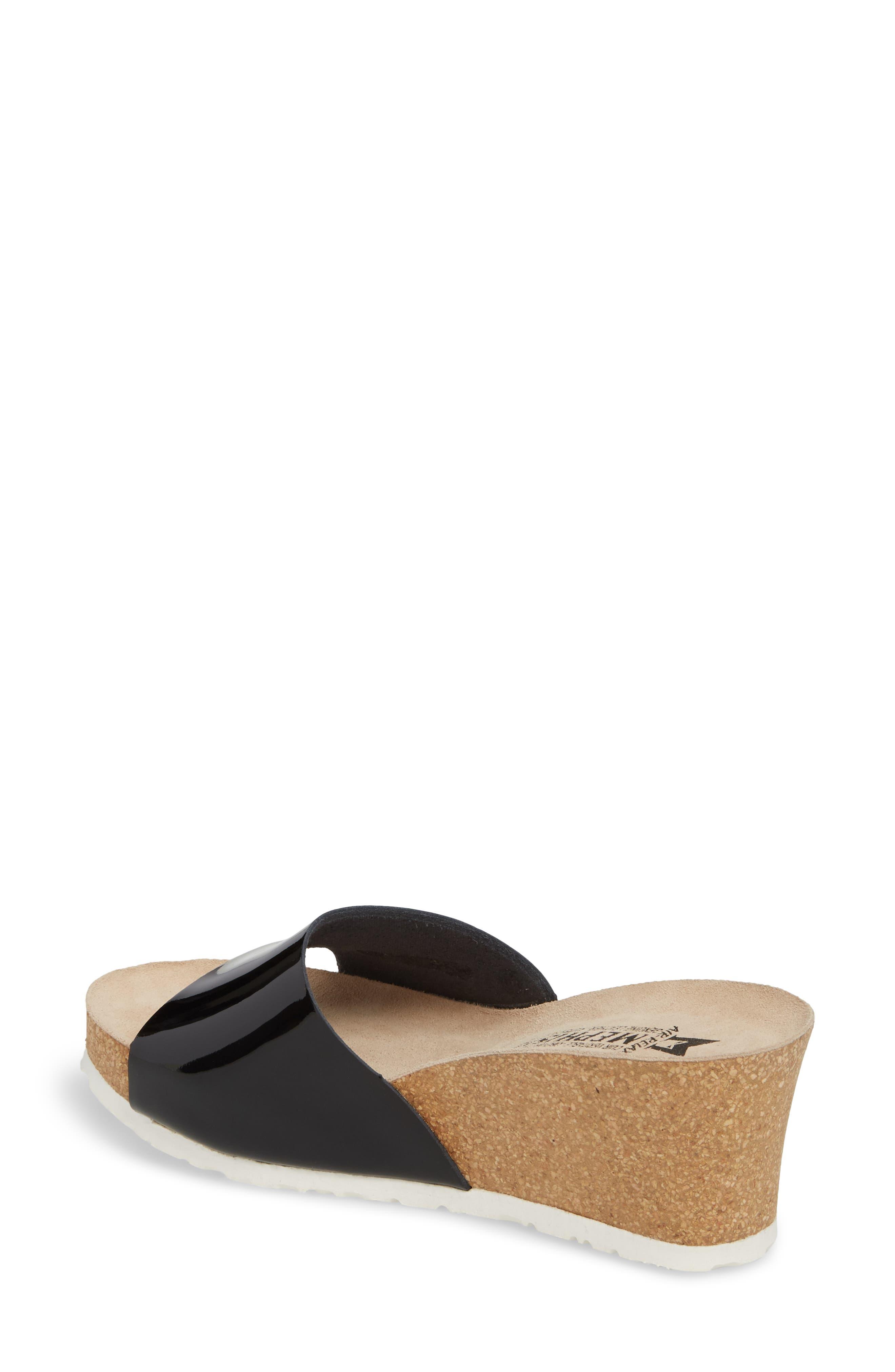 Lise Platform Wedge Sandal,                             Alternate thumbnail 2, color,                             Black