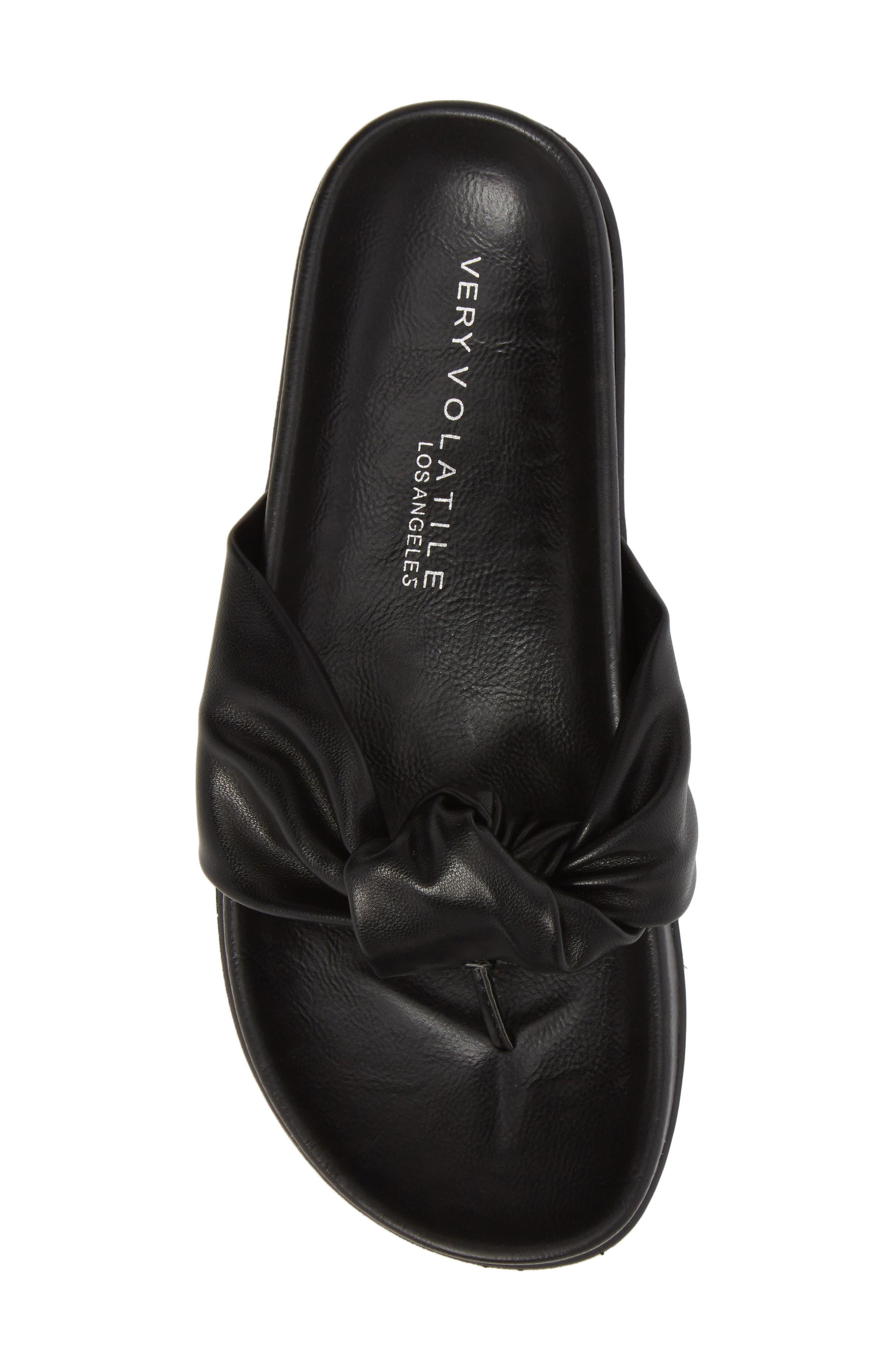 Glaze Bow Sandal,                             Alternate thumbnail 5, color,                             Black