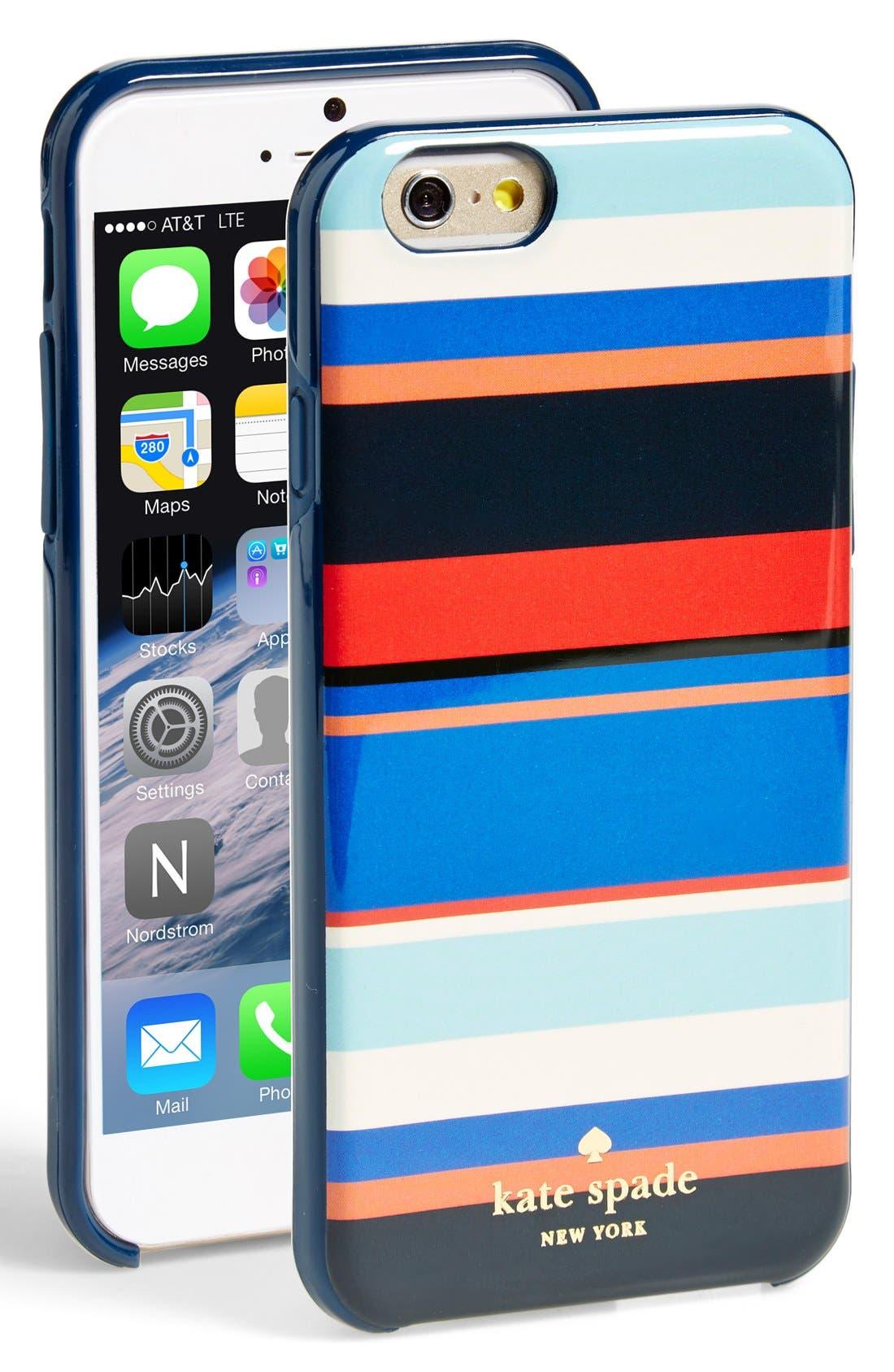 Alternate Image 1 Selected - kate spade new york 'tropical stripe' iPhone 6 case