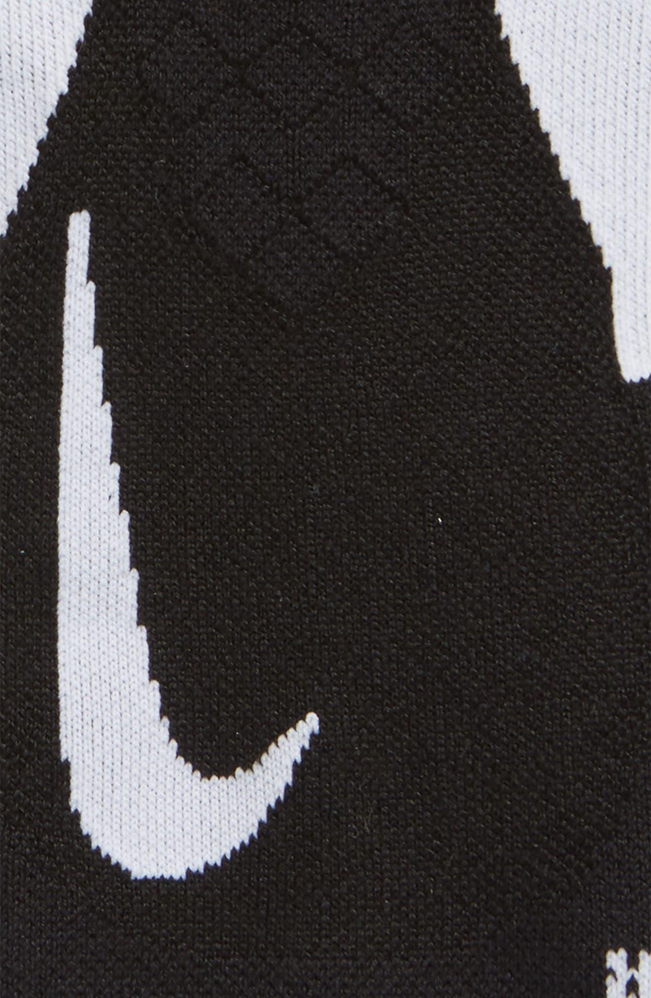 Elite Cushioned No-Show Tab Running Socks,                             Alternate thumbnail 5, color,                             Black