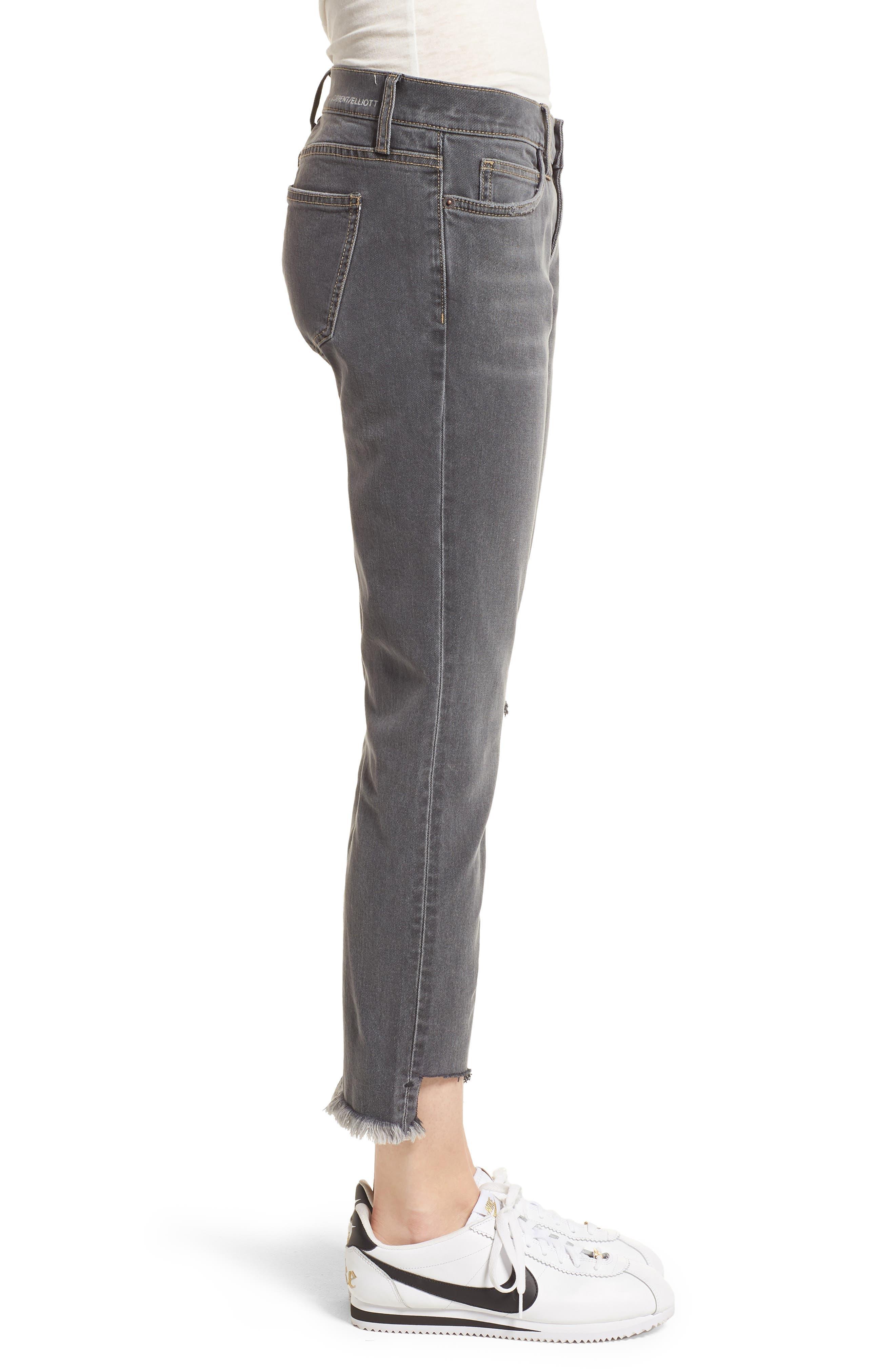 Alternate Image 3  - Current/Elliott The Cropped Straight Leg Jeans (Austen Destroy)