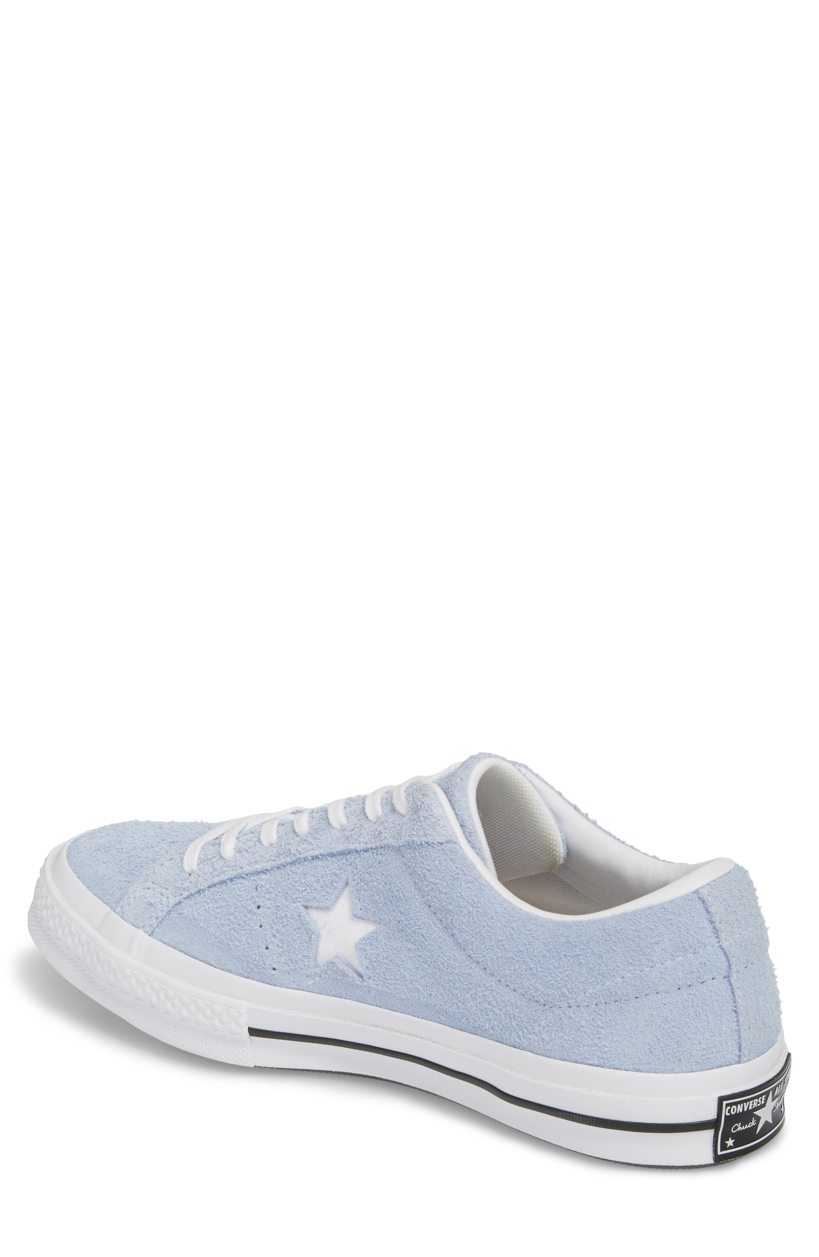 One Star Sneaker,                             Alternate thumbnail 2, color,                             Blue Chill Suede