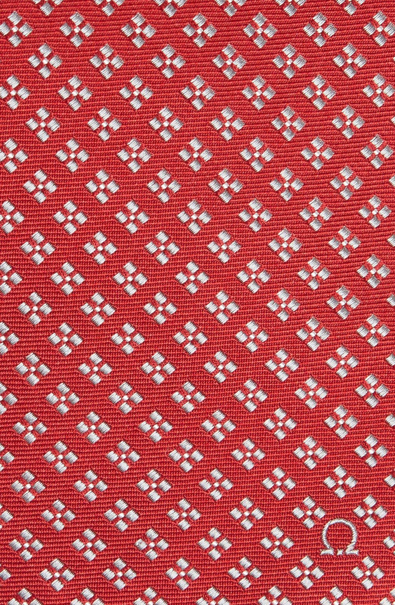 Empol Geometric Silk Tie,                             Alternate thumbnail 2, color,                             Red