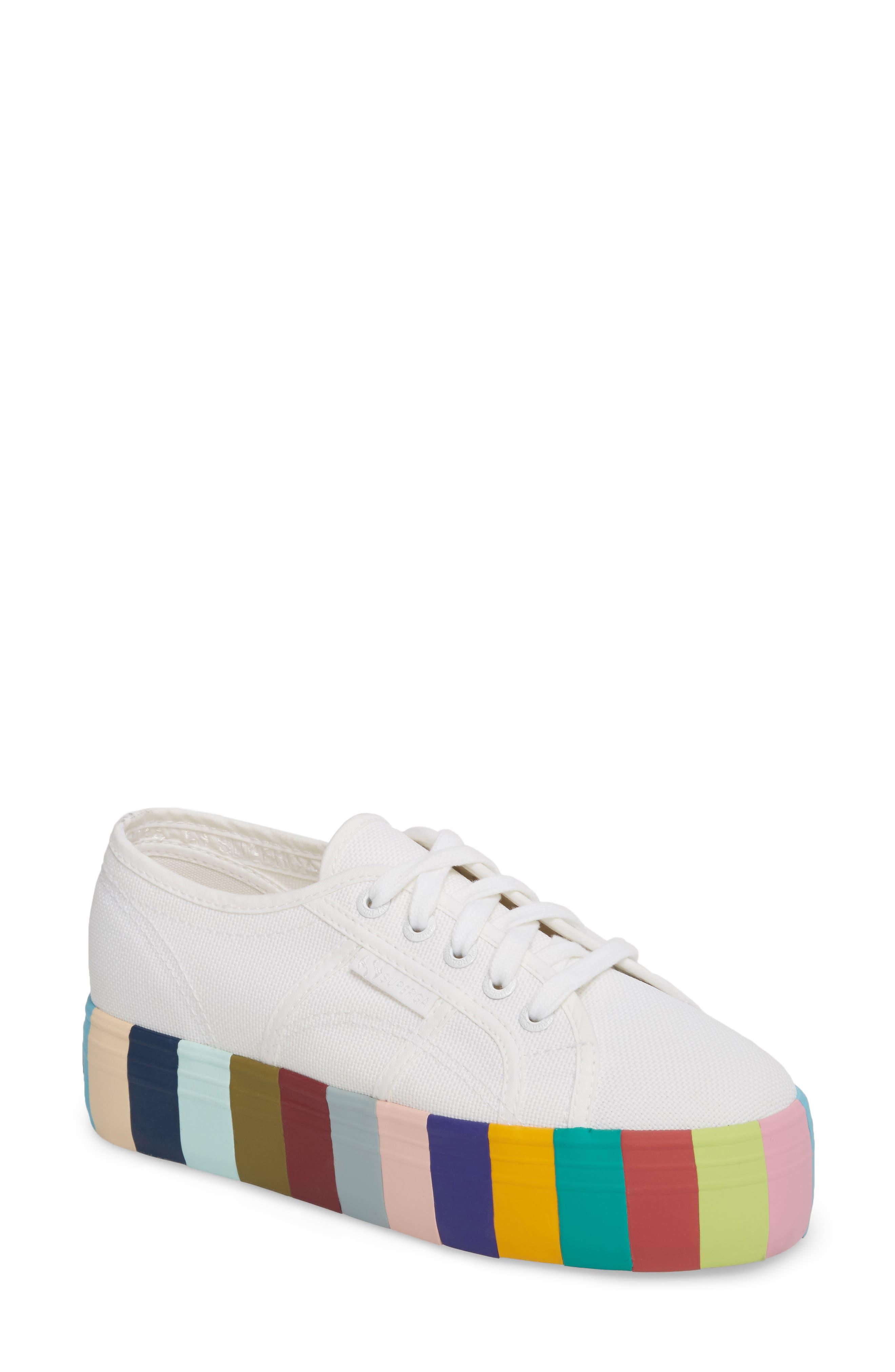 Superga 2790 Stripe Platform Sneaker (Women)