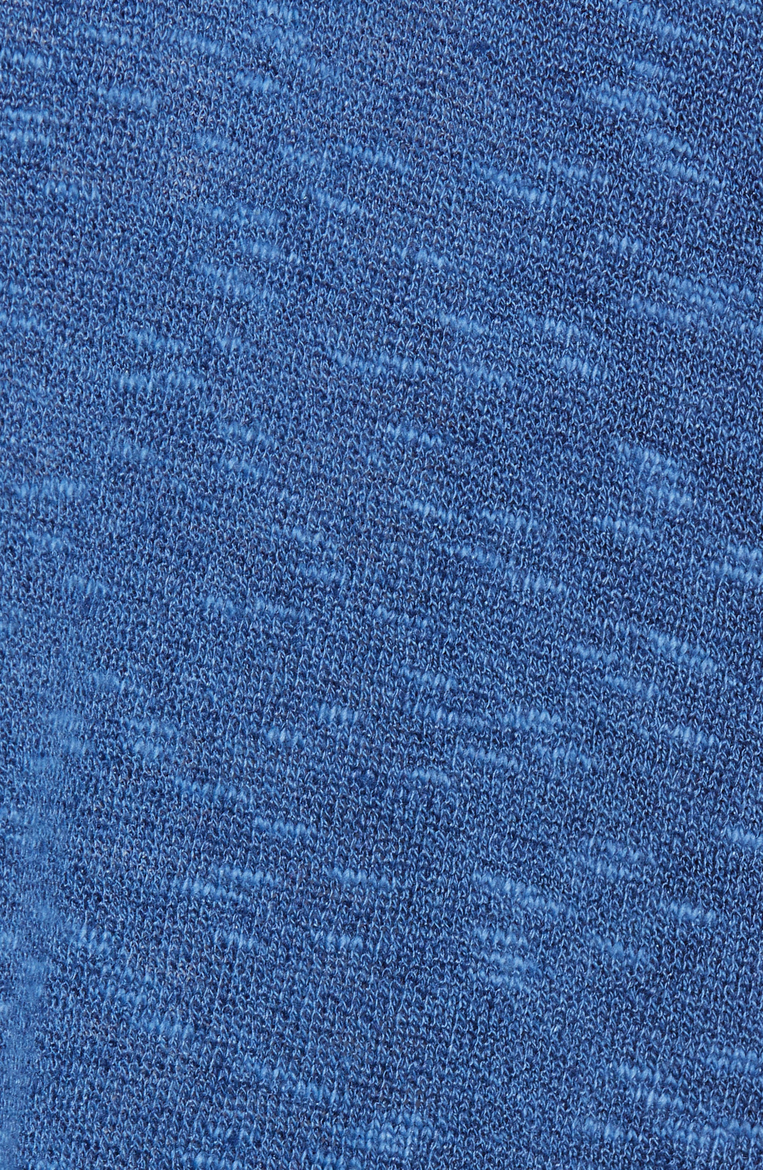 Organic Linen & Cotton Kimono Cardigan,                             Alternate thumbnail 6, color,                             Denim