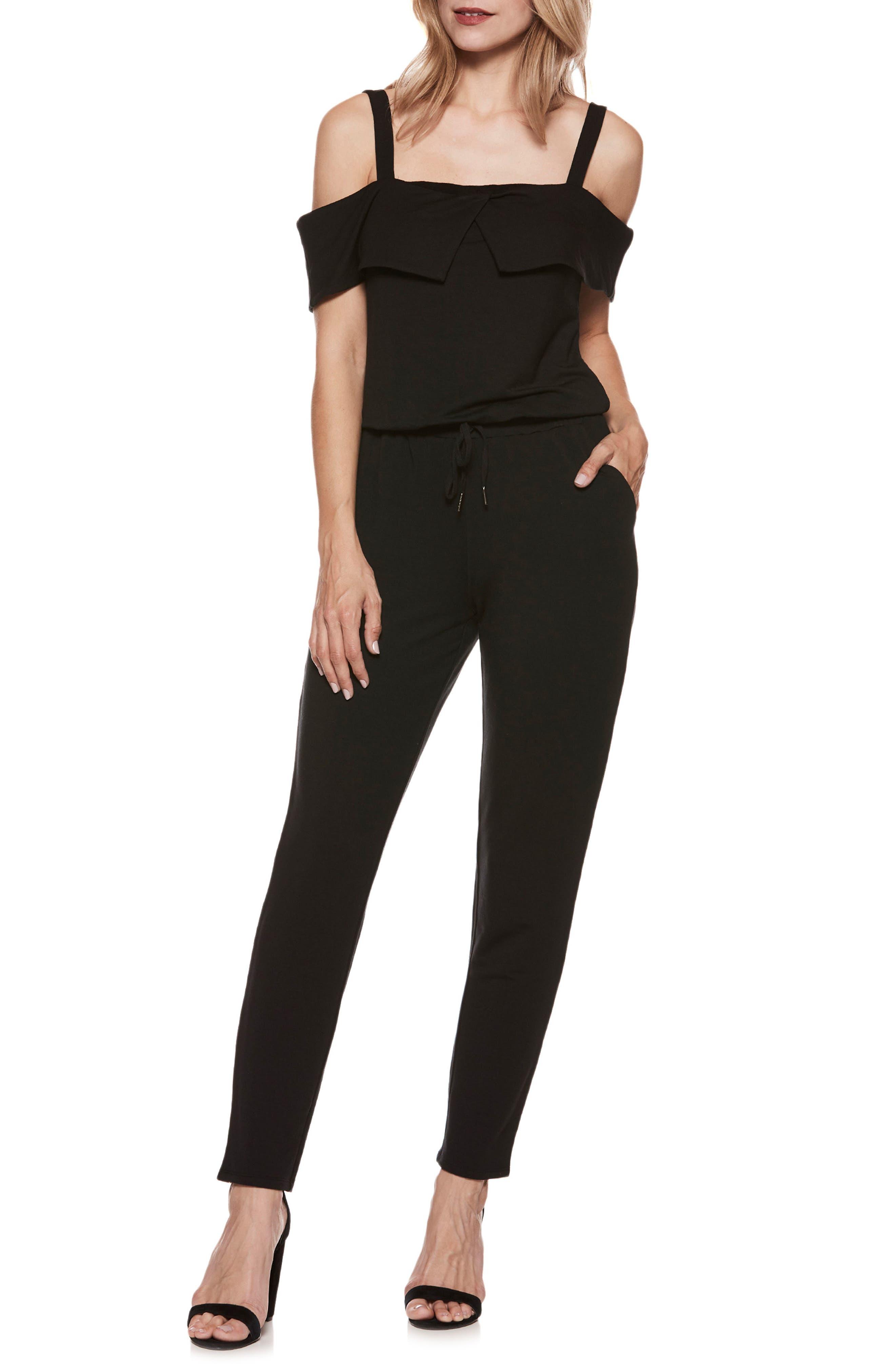 Alisanne Jumpsuit,                         Main,                         color, Black