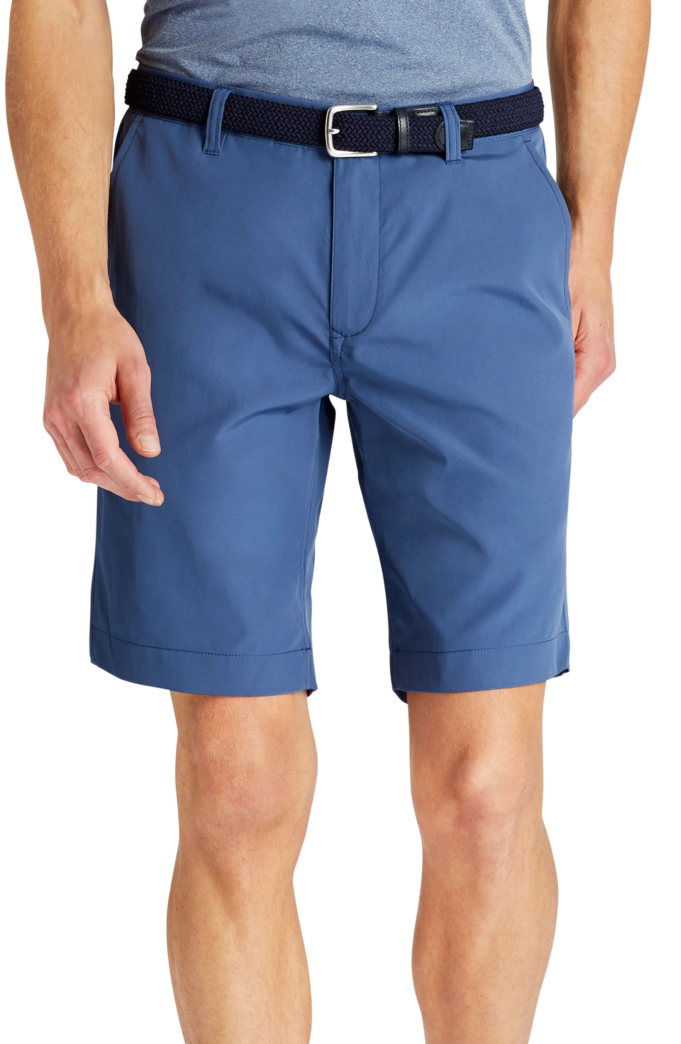 Lightweight Highland Golf Shorts,                             Main thumbnail 1, color,                             Indigo Fade