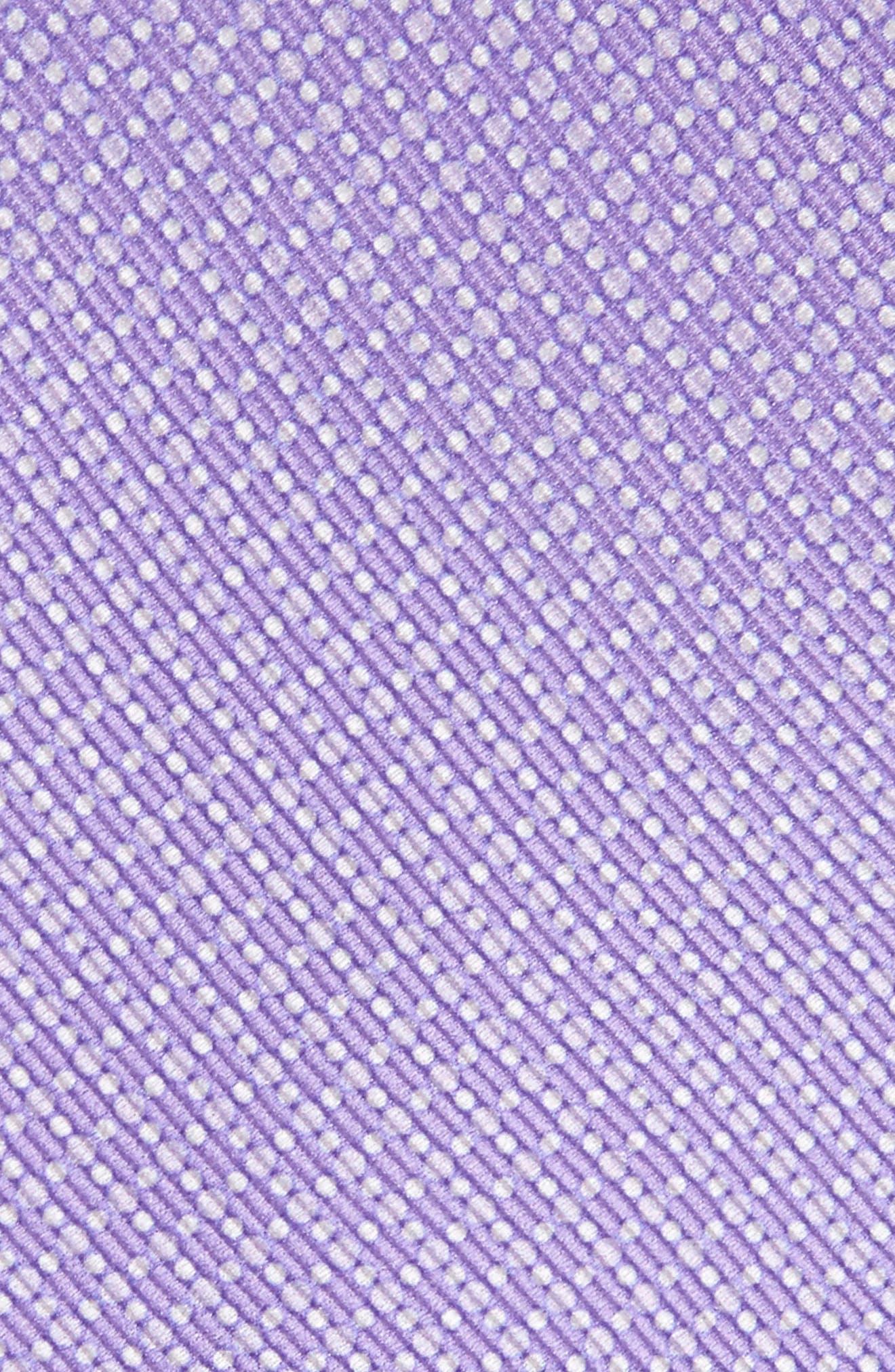 Newlyn Geometric Silk Tie,                             Alternate thumbnail 2, color,                             Newlyn Geo Pure Lavender