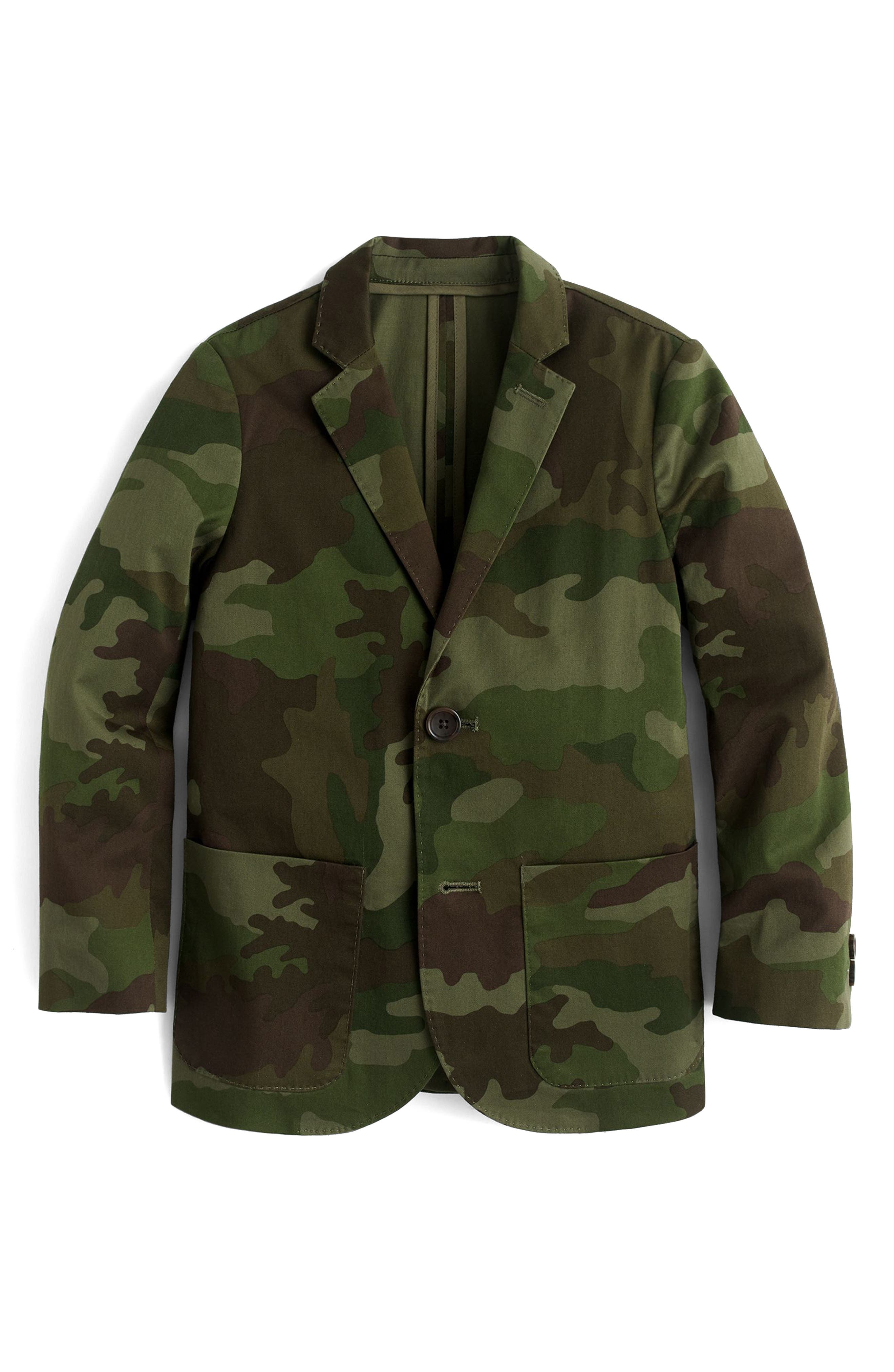 Ludlow Camo Unstructured Suit Jacket,                             Main thumbnail 1, color,                             Camo Multi Wx1672