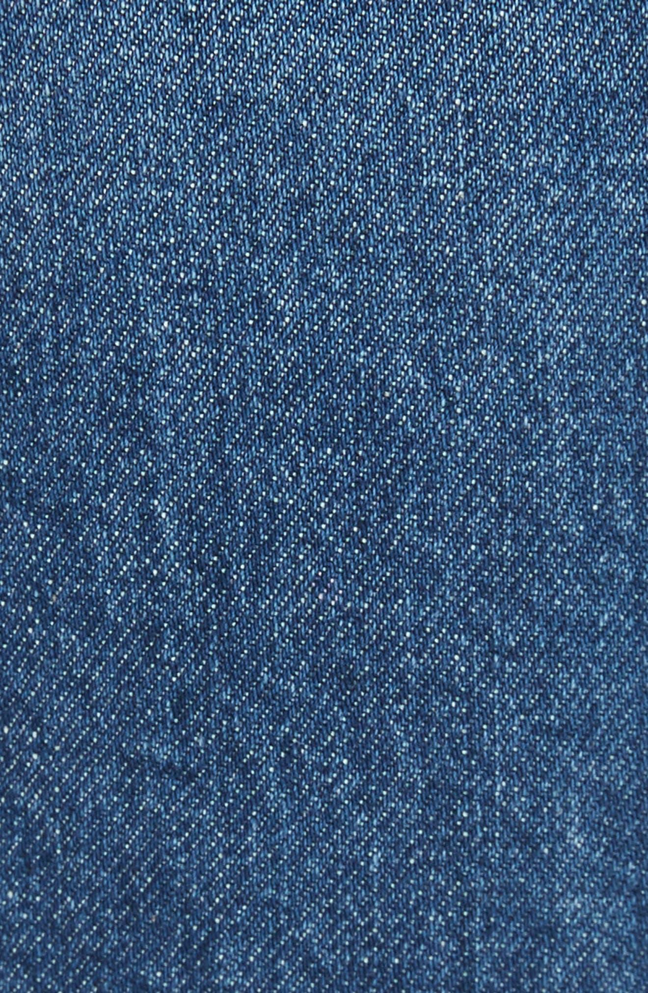 AO.LA Beautiful High Waist Bell Jeans,                             Alternate thumbnail 5, color,                             Secret Meeting