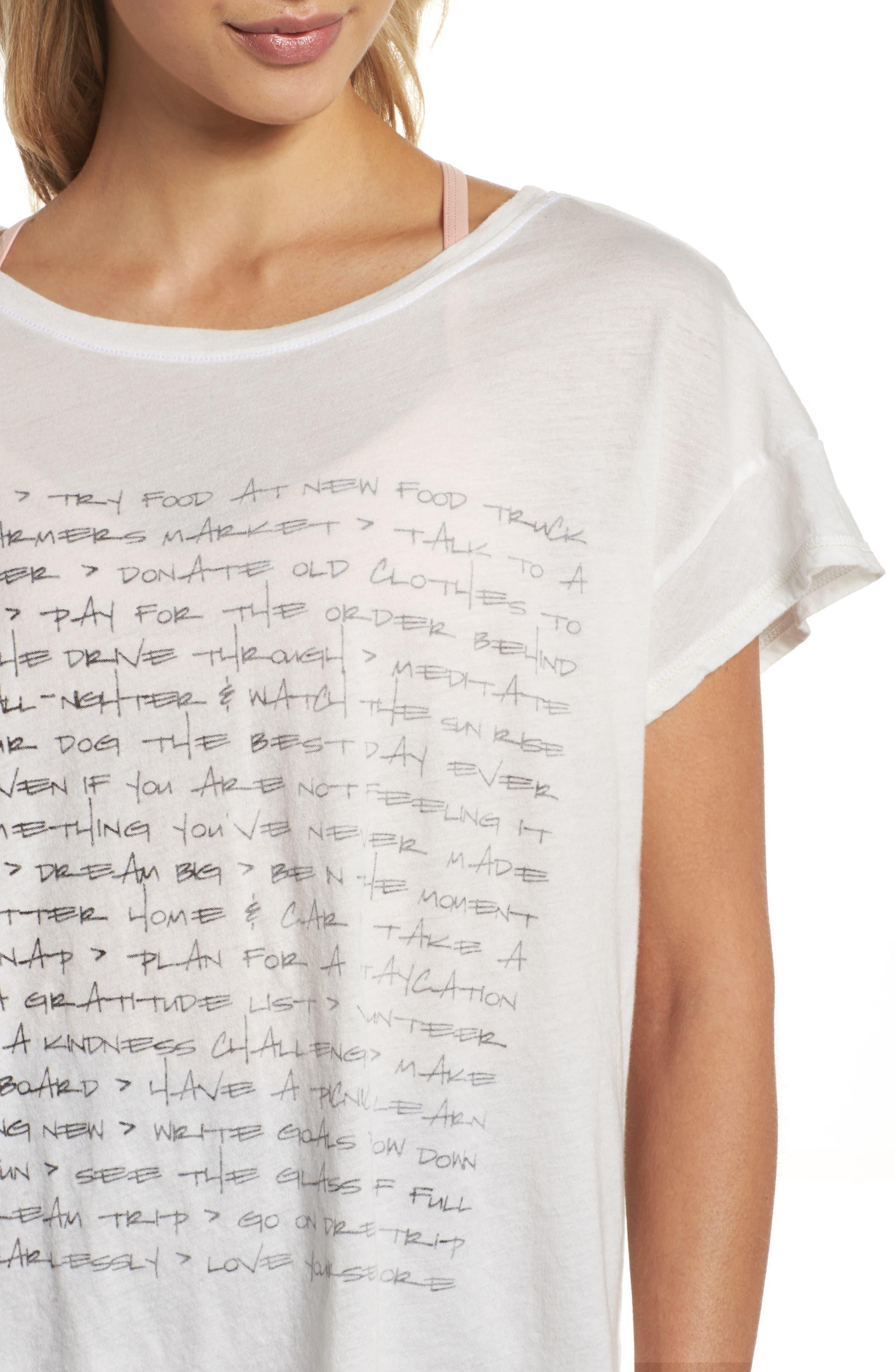 Claire To Do List Graphic Shirt,                             Alternate thumbnail 4, color,                             Salt