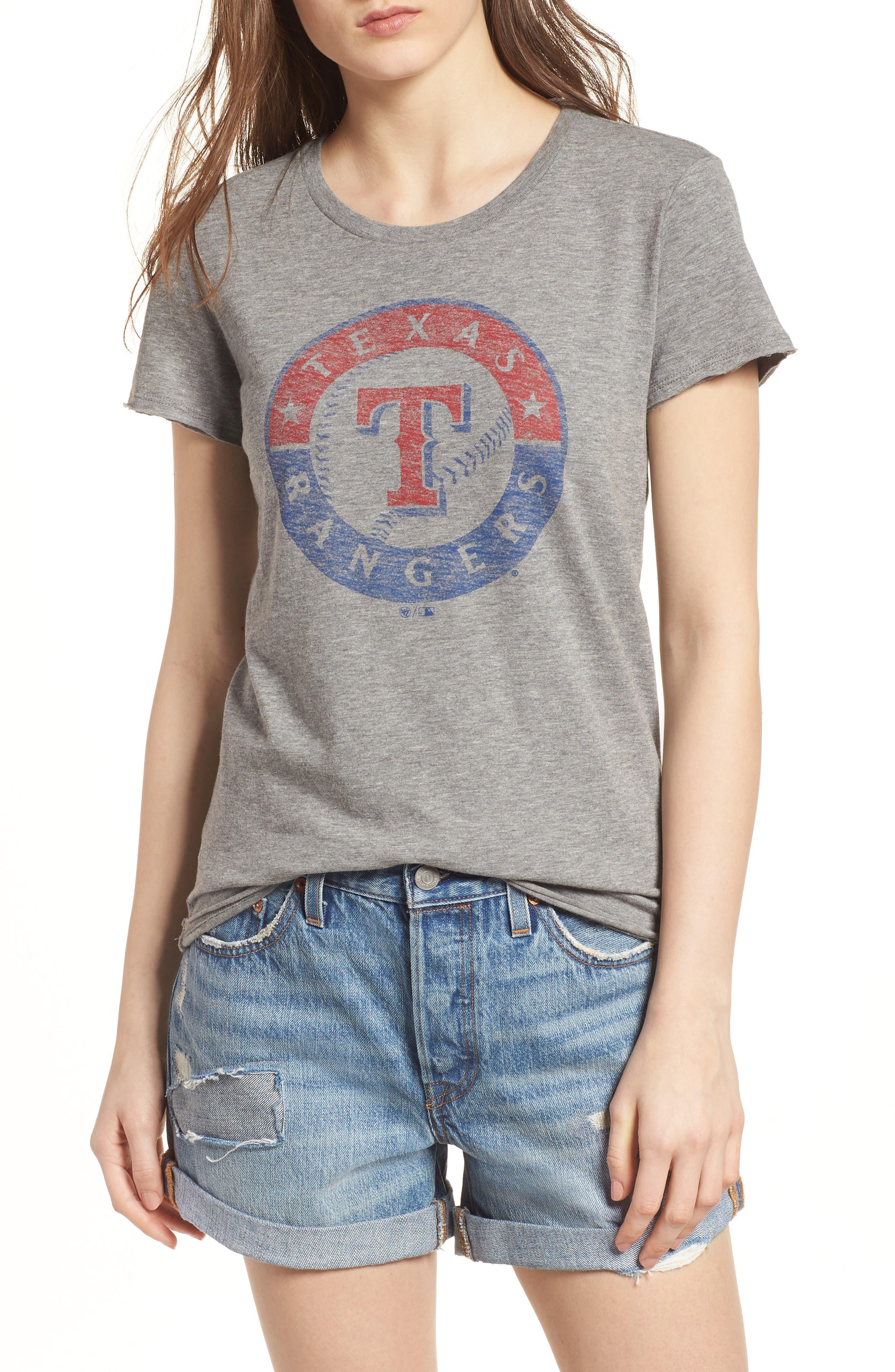 Texas Rangers Fader Letter Tee,                         Main,                         color, Slate Grey