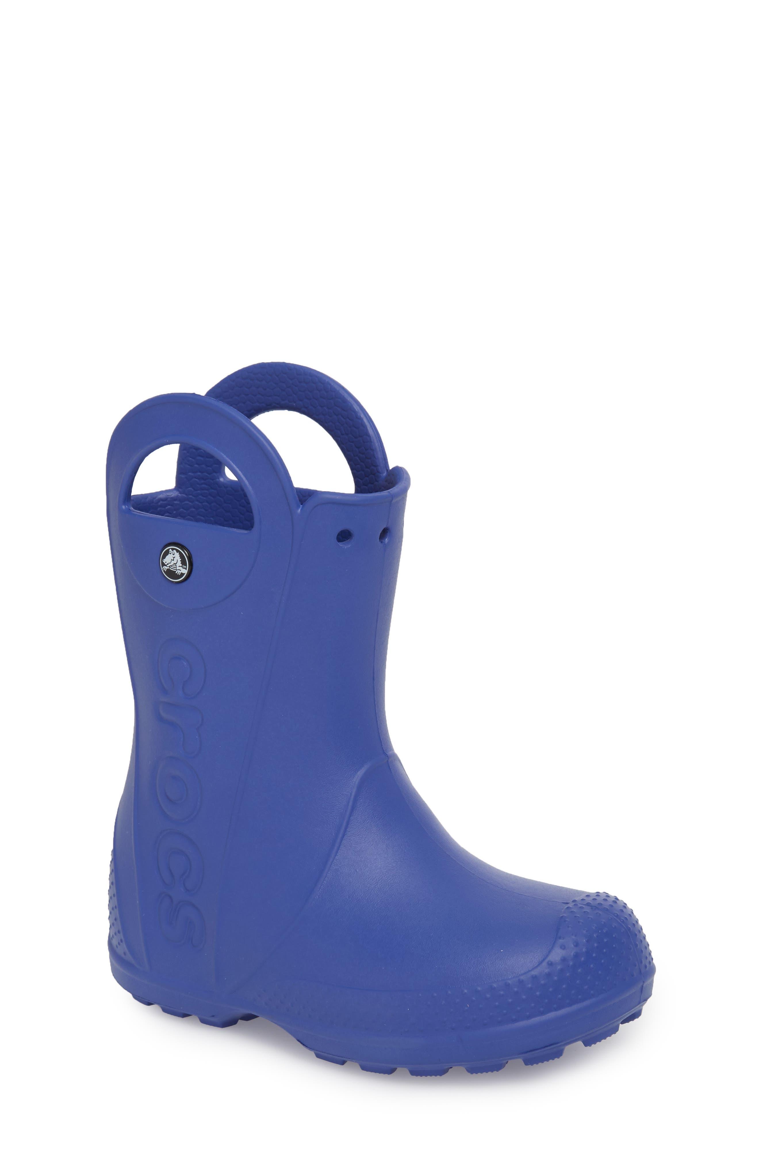 'Handle It' Rain Boot,                             Main thumbnail 1, color,                             Cerulean Blue