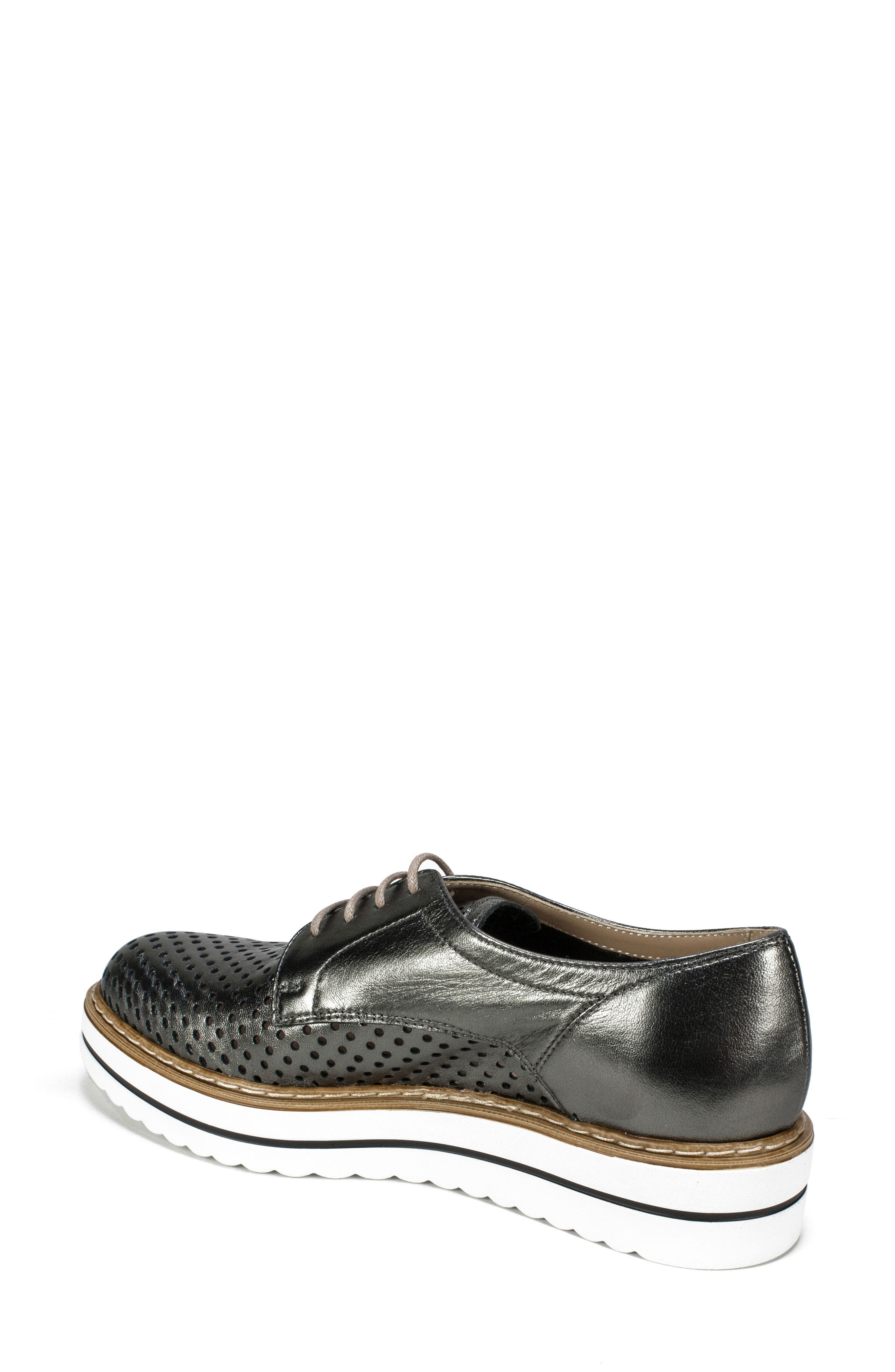 Bria Derby,                             Alternate thumbnail 2, color,                             Pewter Leather