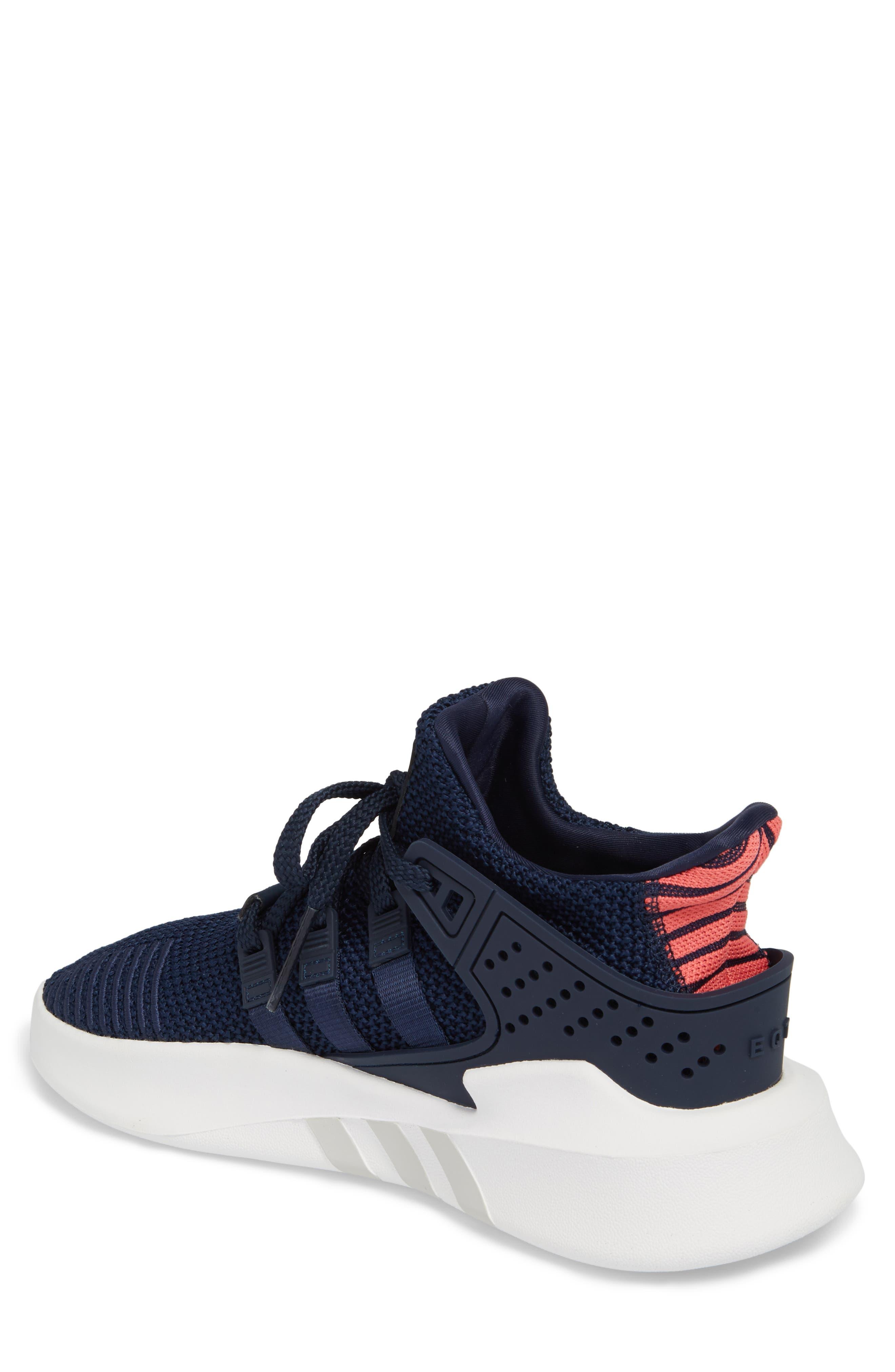 EQT Basketball ADV Sneaker,                             Alternate thumbnail 2, color,                             Collegiate Navy/ Real Coral