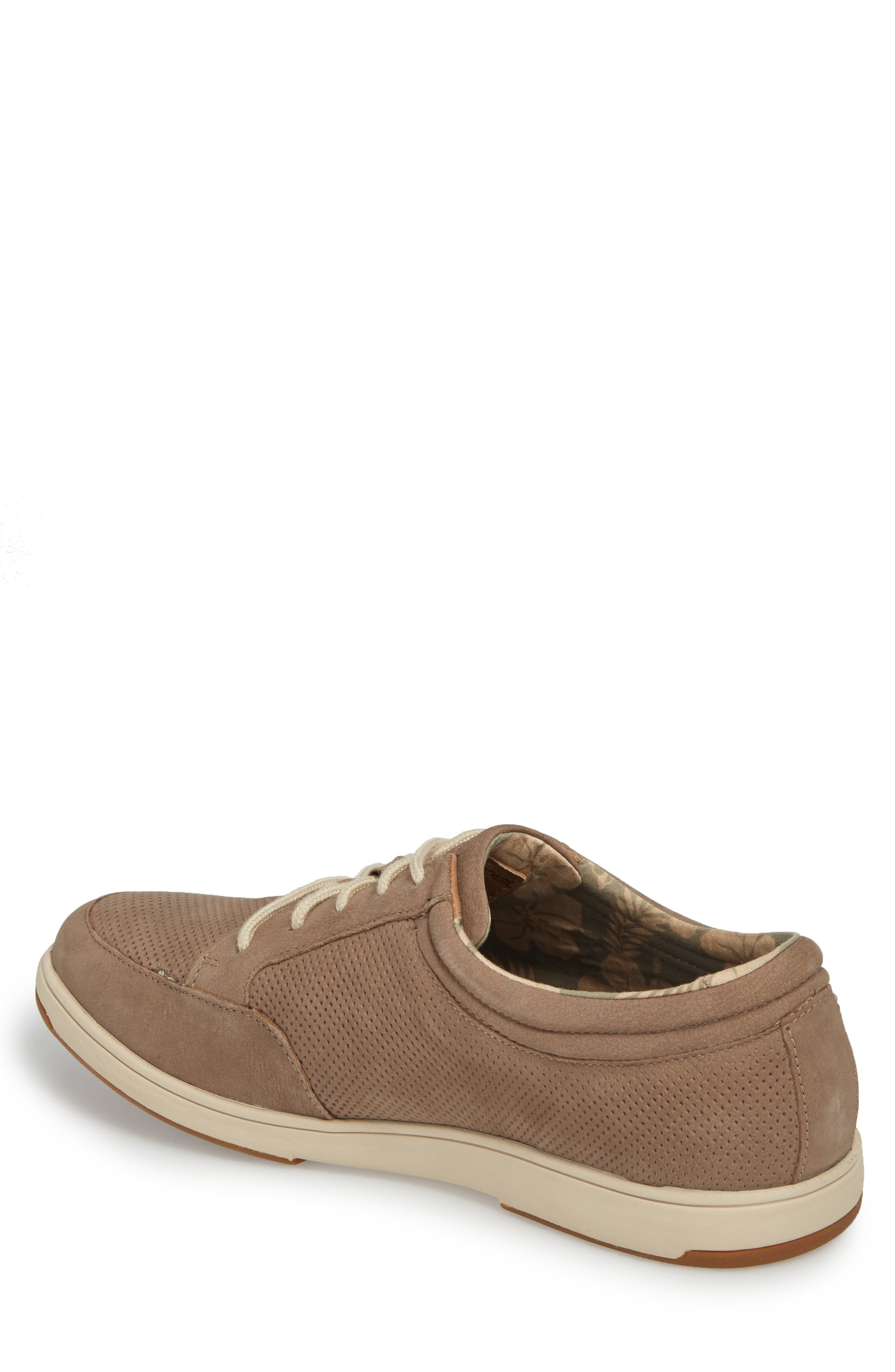 Caicos Authentic Low Top Sneaker,                             Alternate thumbnail 2, color,                             Taupe Leather