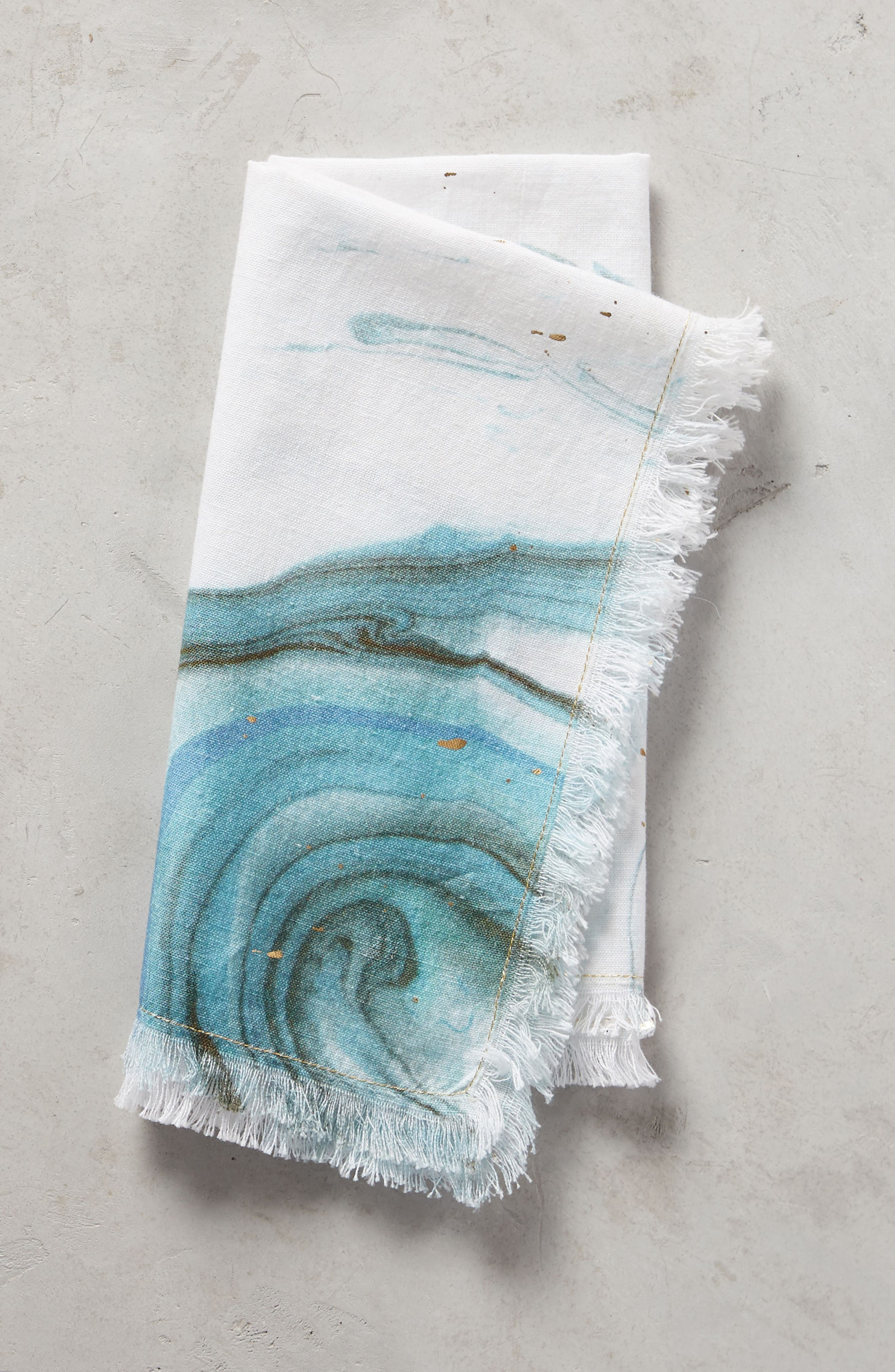 Marble Napkin,                         Main,                         color, Turquoise