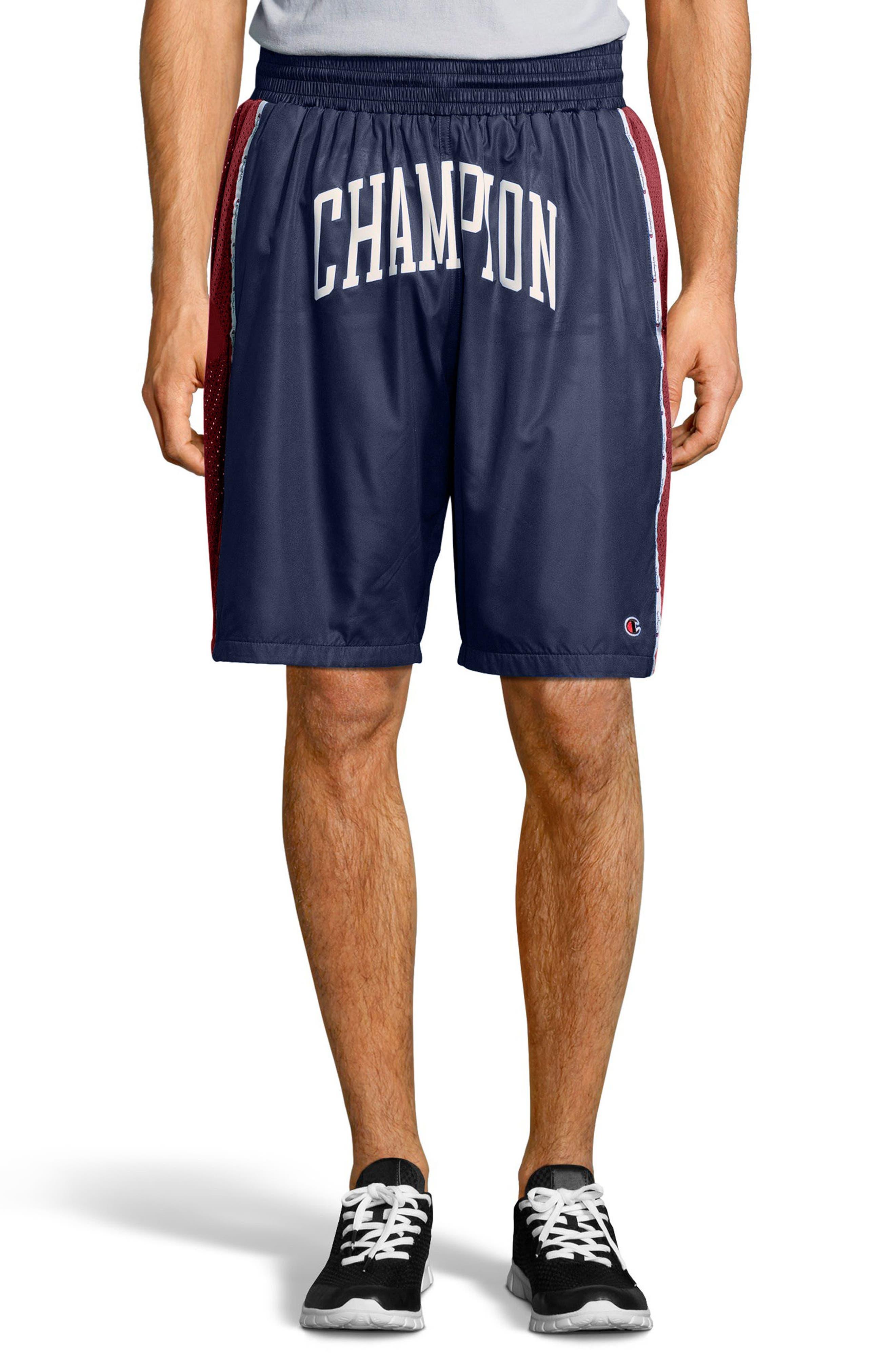 Satin Shorts,                         Main,                         color, Imperail Indigo/Navy