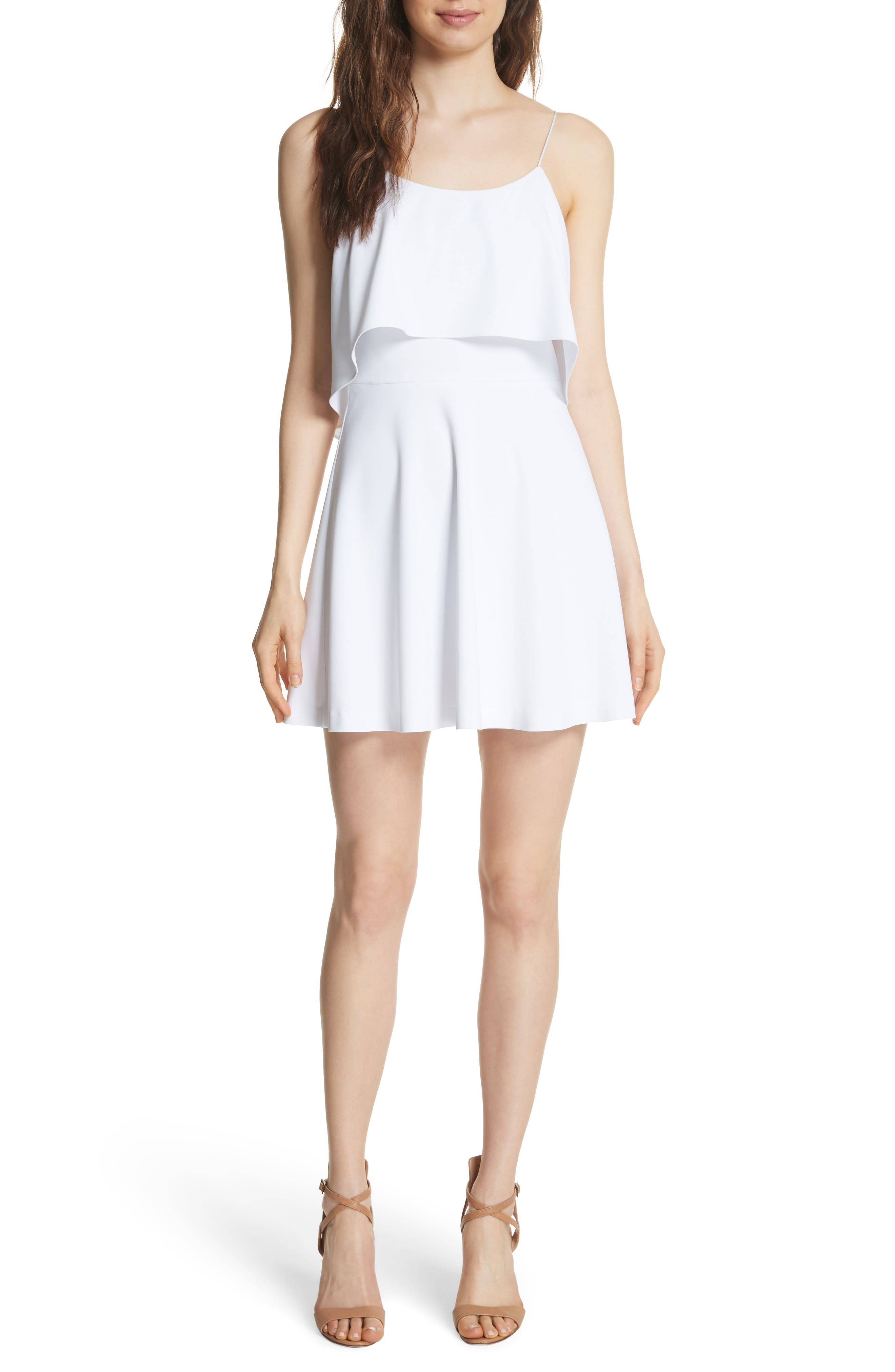 Main Image - Alice + Olivia Kipp Layered Ruffle Short Dress