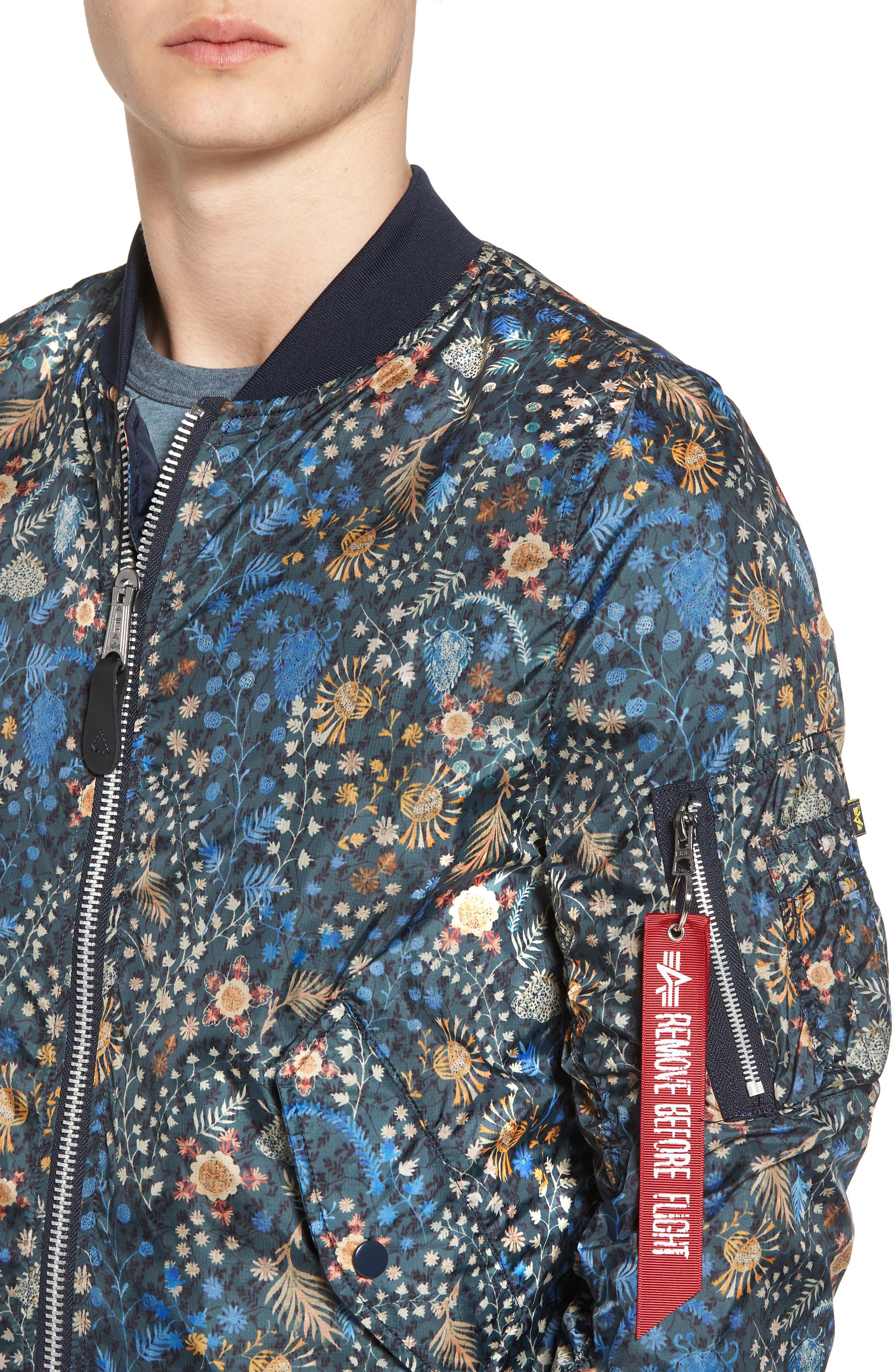 Liberty X L-2B Scout Bomber Jacket,                             Alternate thumbnail 4, color,                             Croquette Meadow