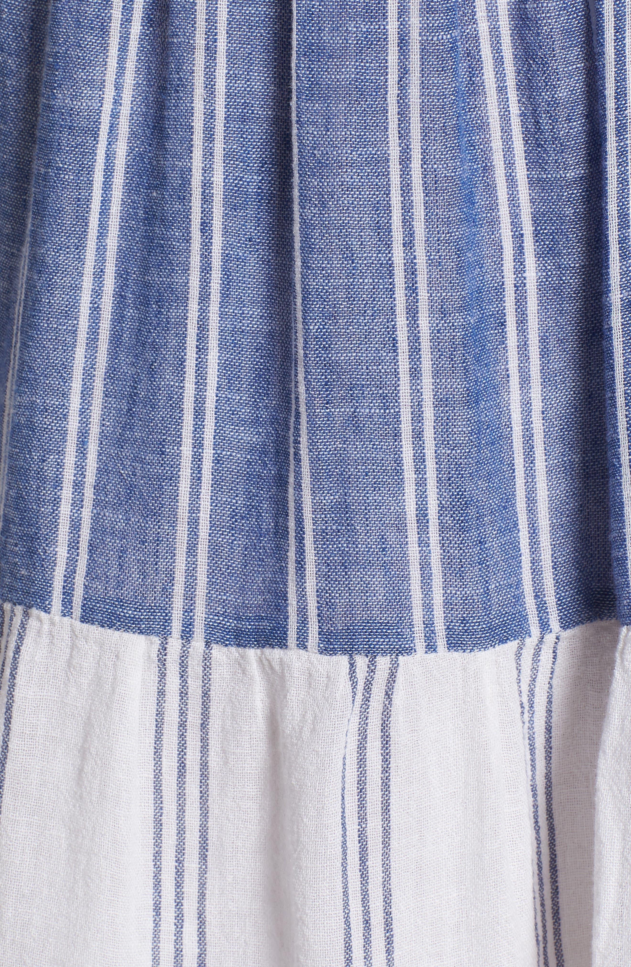 Mattie Dress,                             Alternate thumbnail 5, color,                             Mixed Blues Stripe