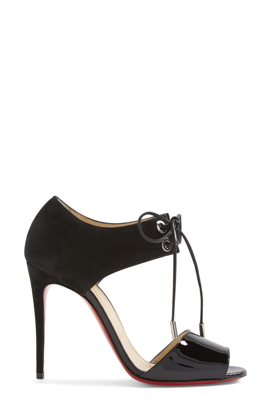 Alternate Image 4  - Christian Louboutin Tie-Up Leather Sandal