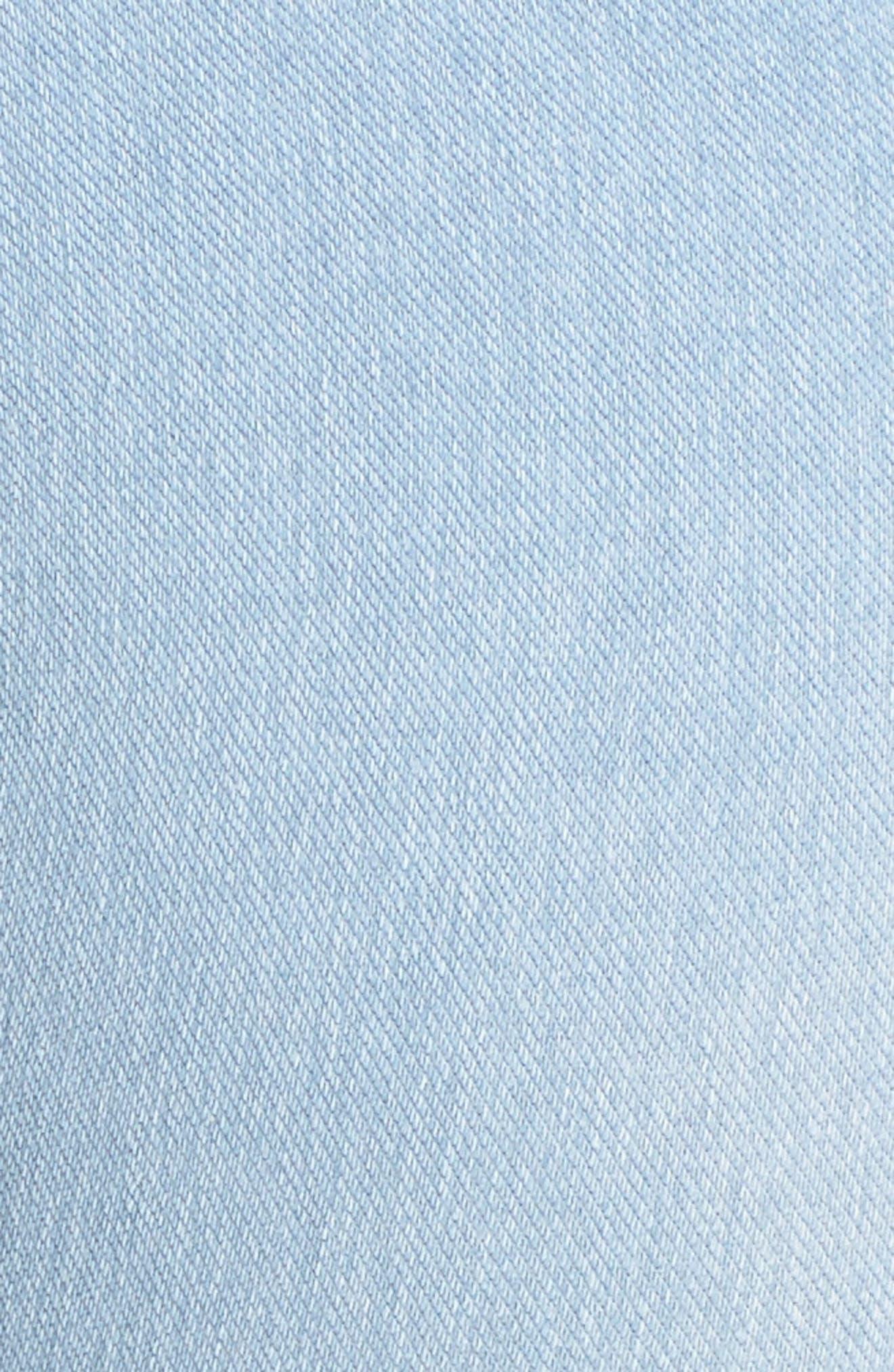 Stretch Denim Leggings,                             Alternate thumbnail 5, color,                             Cashmere Blue