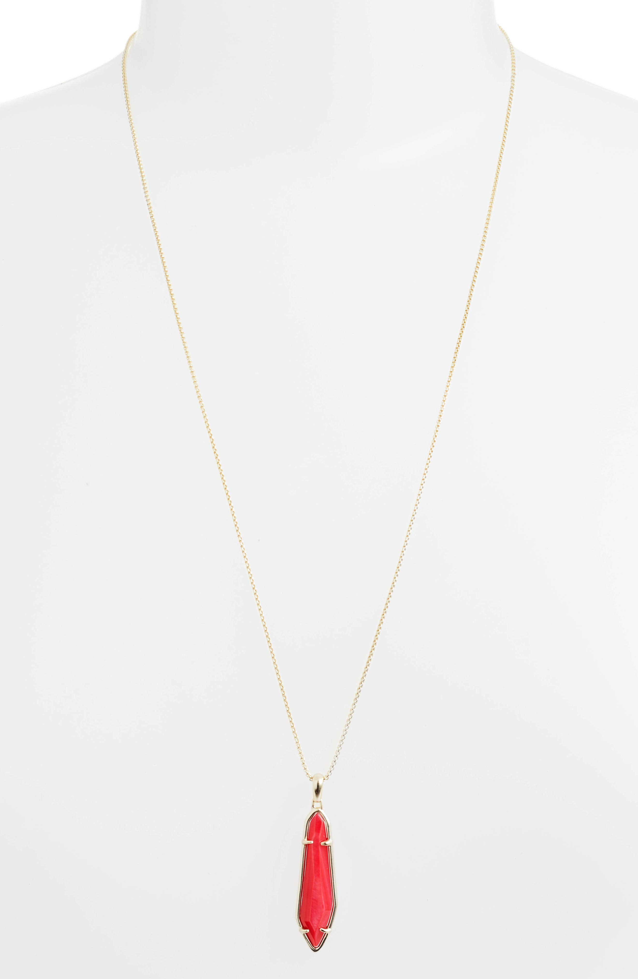 Cassidy Stone Necklace,                         Main,                         color, Red Mop/ Gold