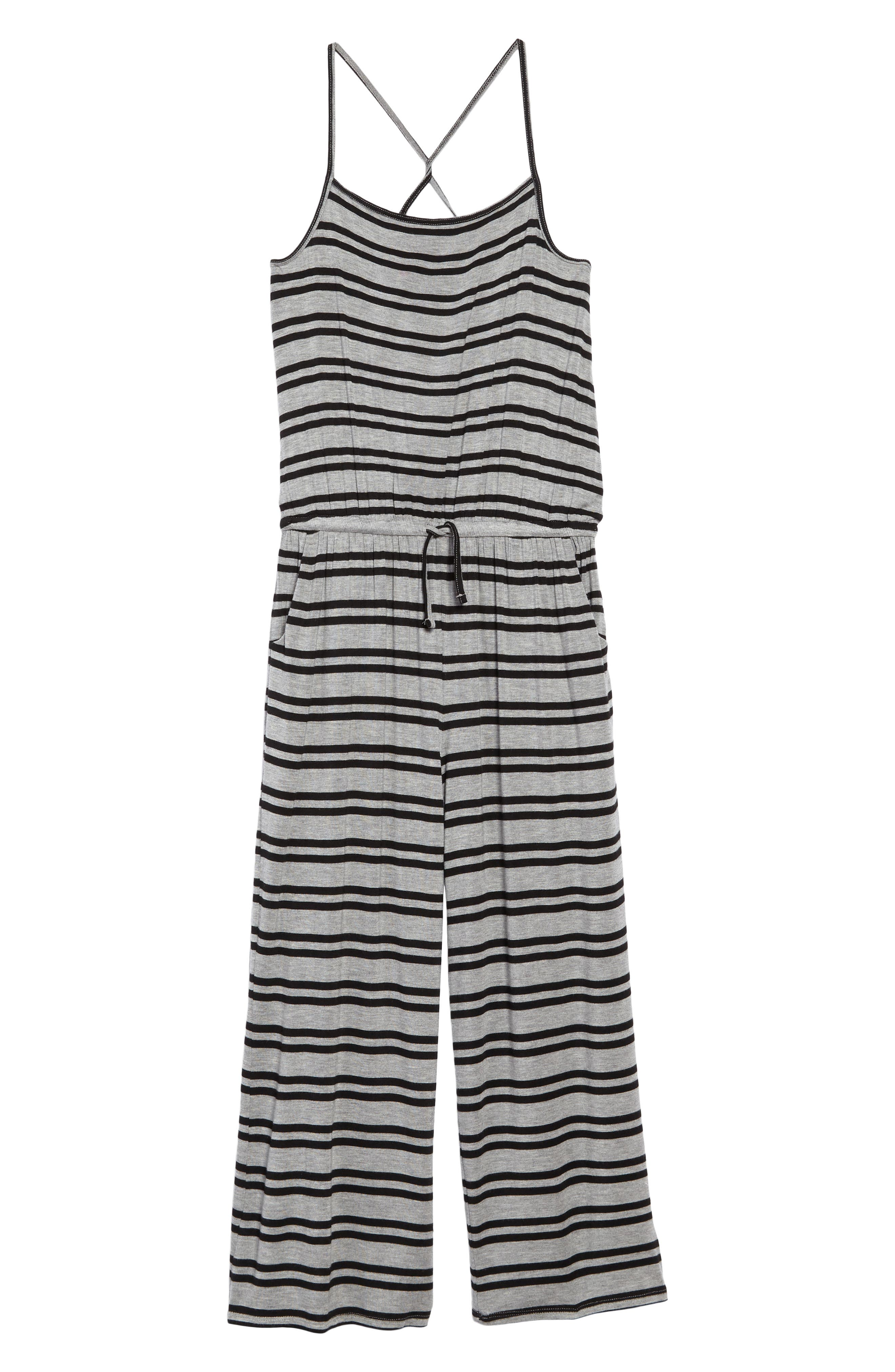 Tucker + Tate Stripe Wide Leg Knit Jumpsuit (Big Girls)