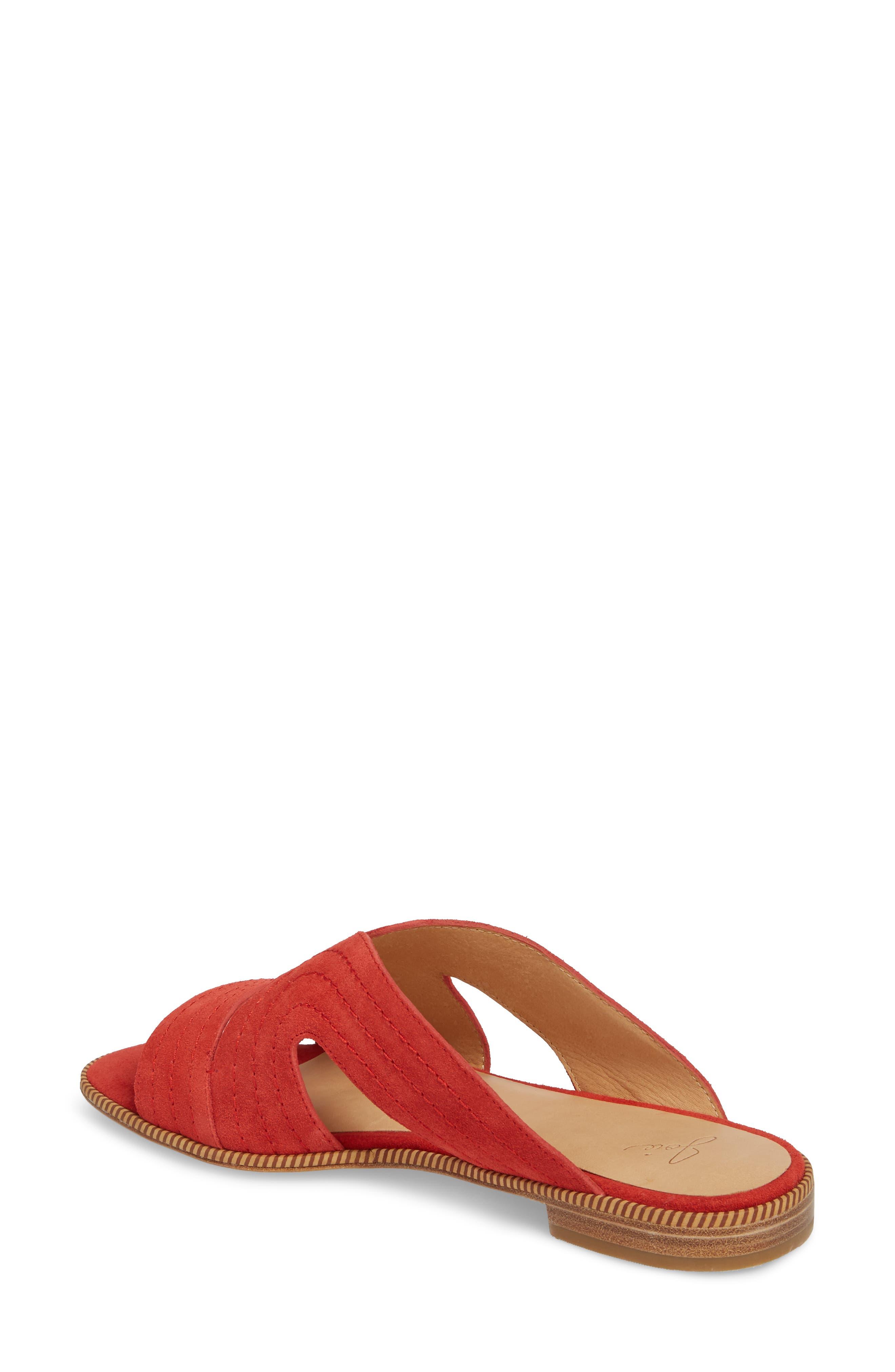 Paetyn Slide Sandal,                             Alternate thumbnail 2, color,                             Red