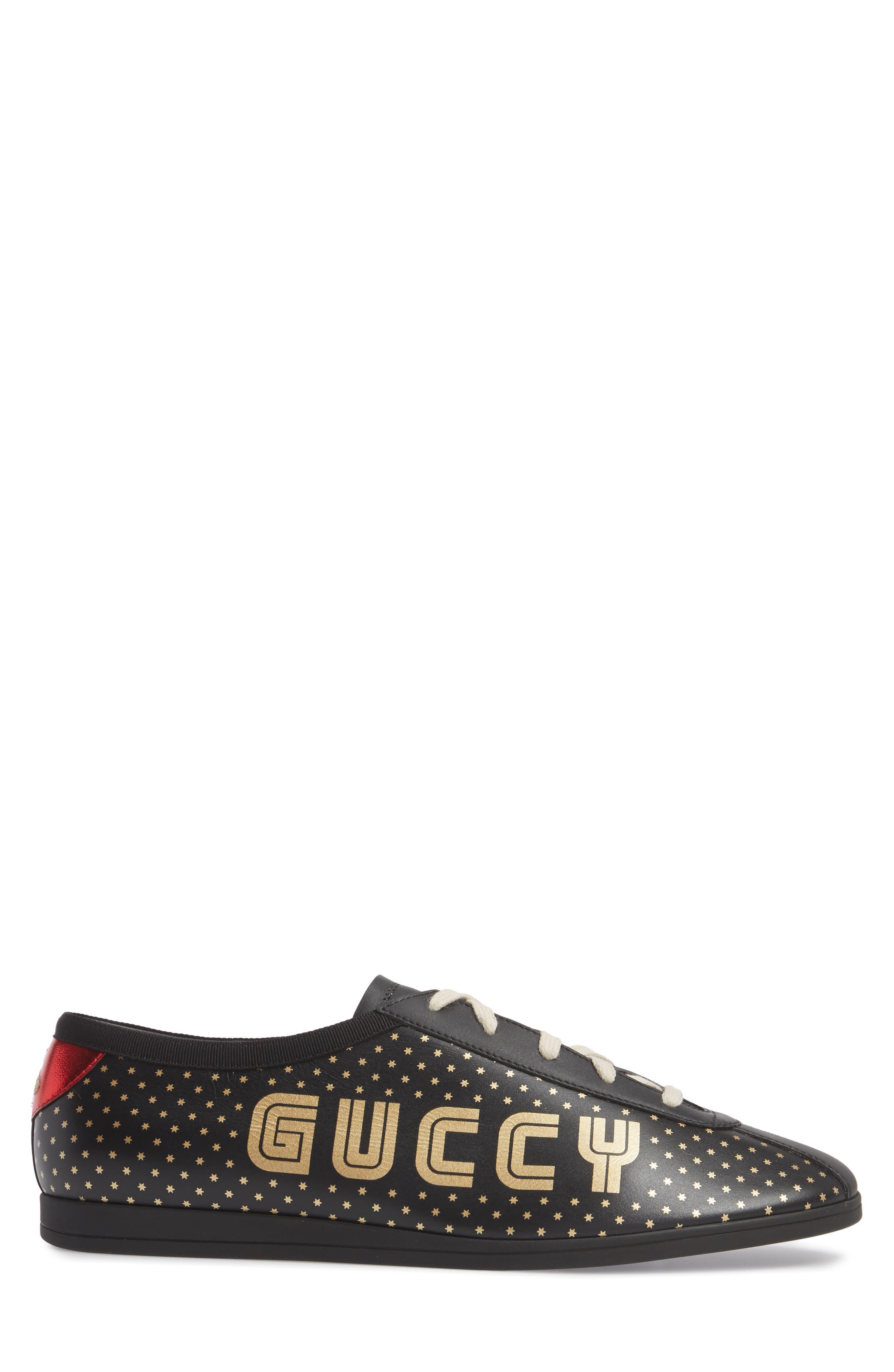 Falacer Guccy Low Top Sneaker,                             Alternate thumbnail 3, color,                             Black/ Tan