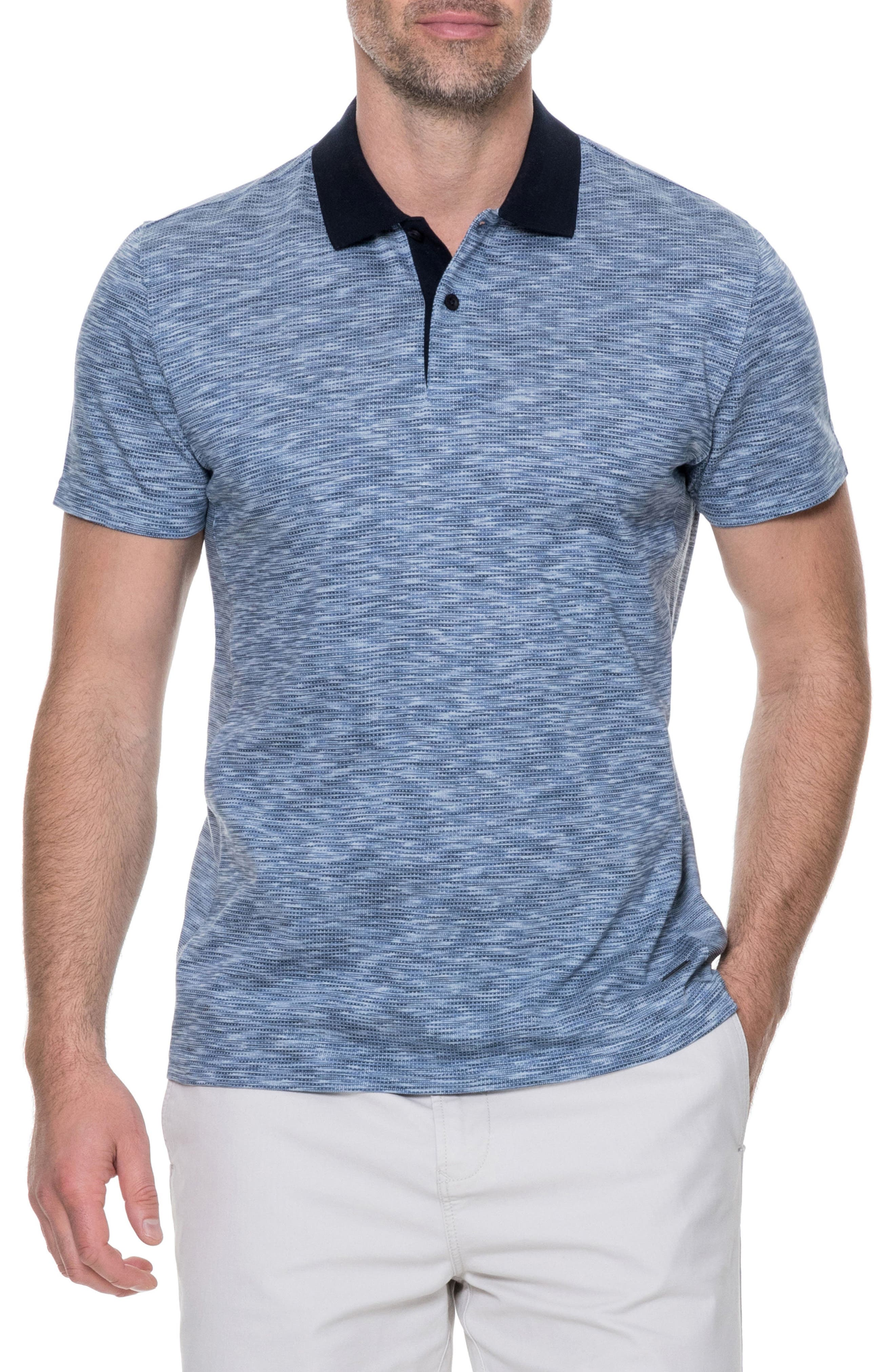 Raywood Sports Fit Polo,                         Main,                         color, Blue Steel