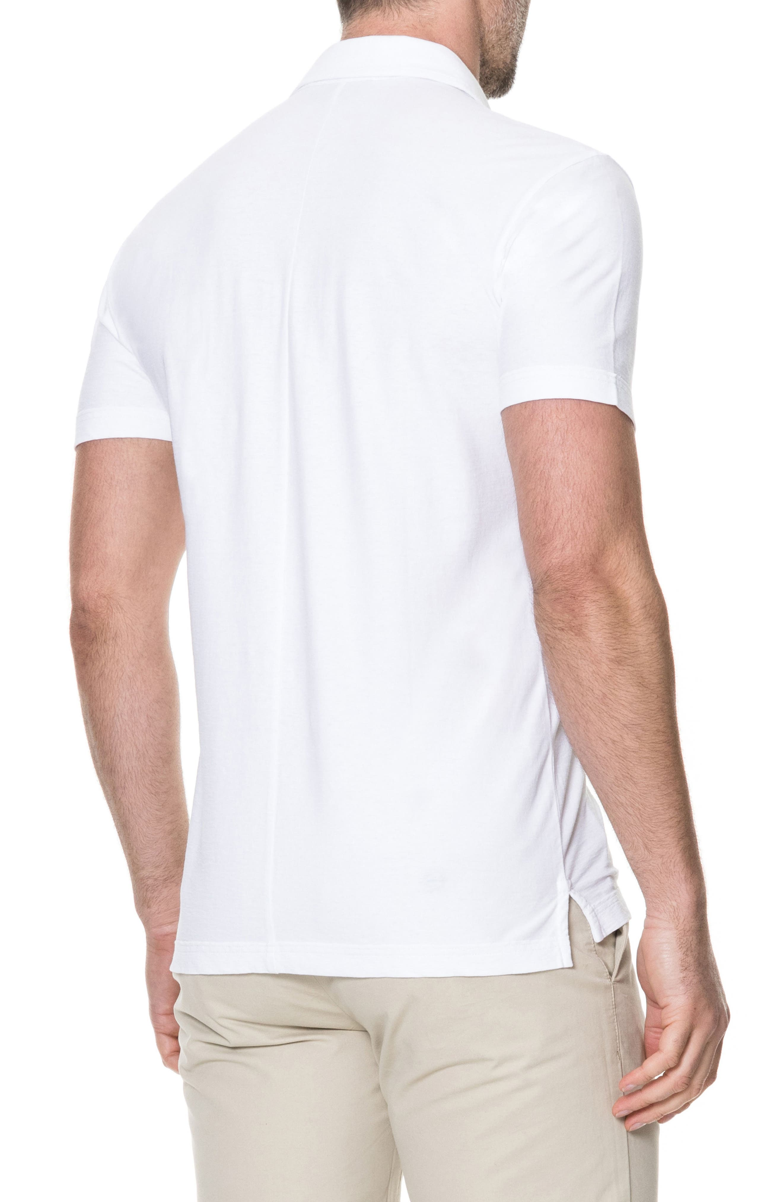 Wilsons Bay Sports Fit Polo,                             Alternate thumbnail 2, color,                             Snow