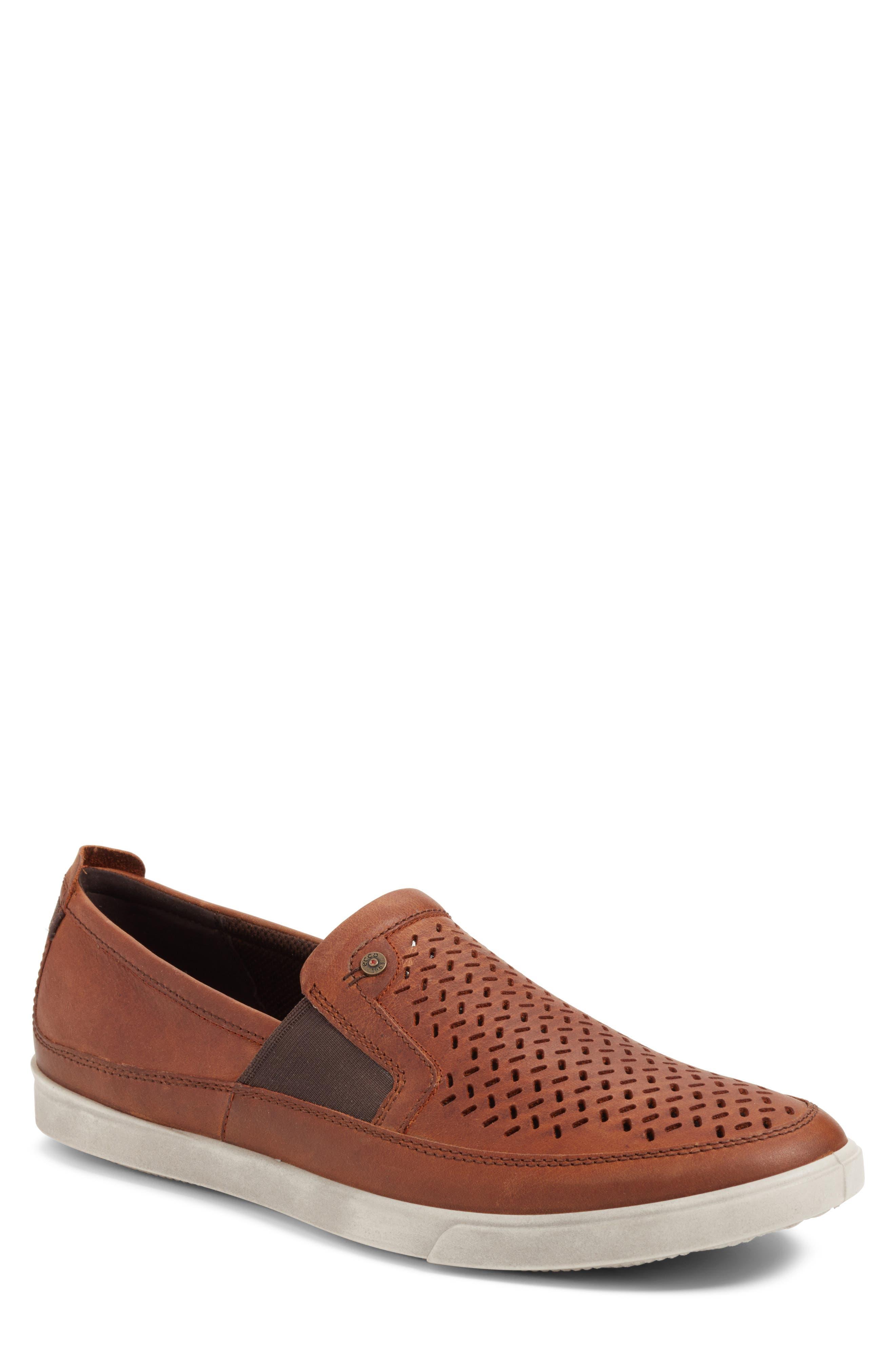 ECCO 'Collin' Perforated Slip On Sneaker (Men)