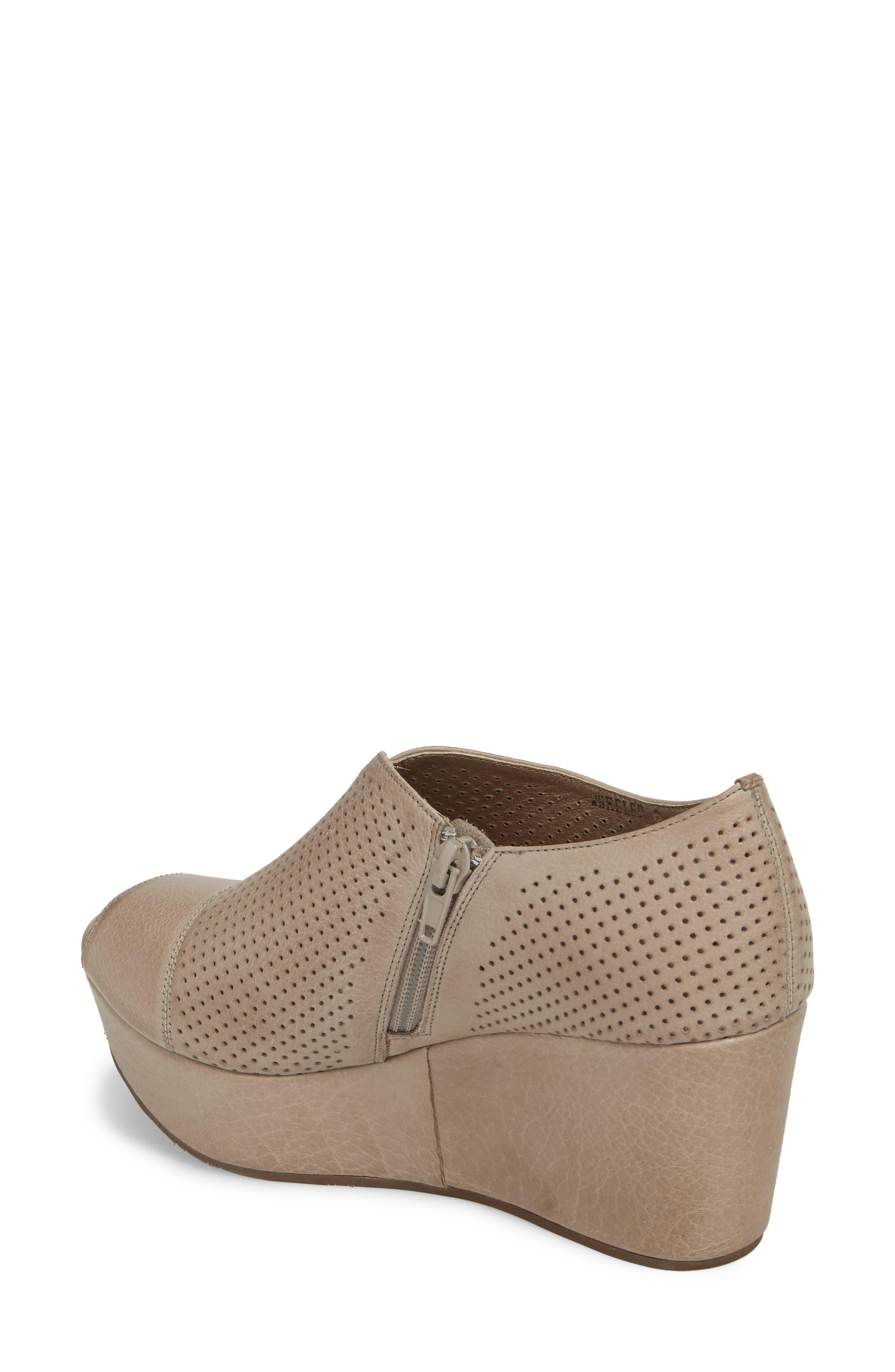 Wheeler Wedge Sandal,                             Alternate thumbnail 2, color,                             Grey Leather