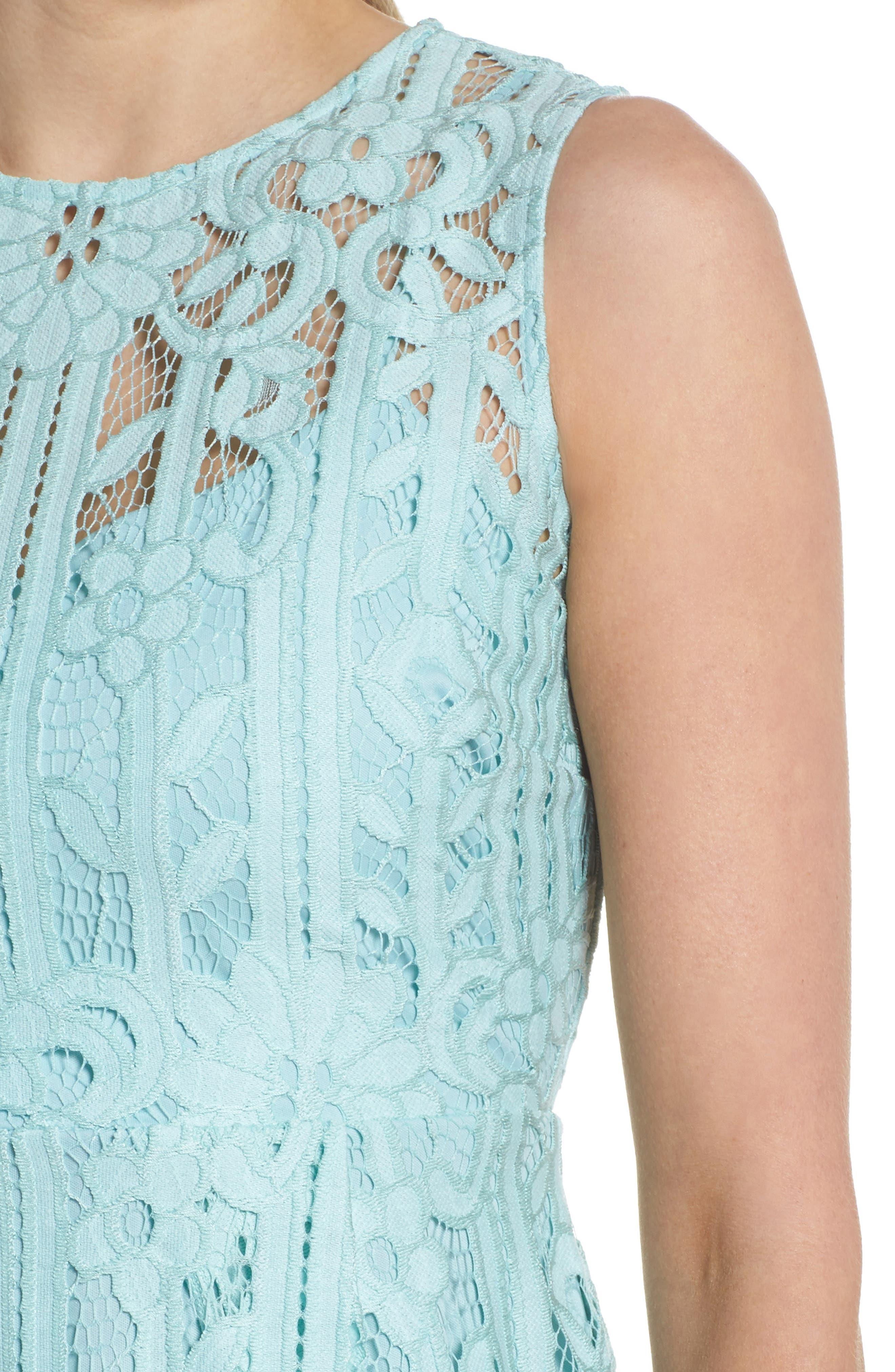 Sleeveless Lace Dress,                             Alternate thumbnail 4, color,                             Mint