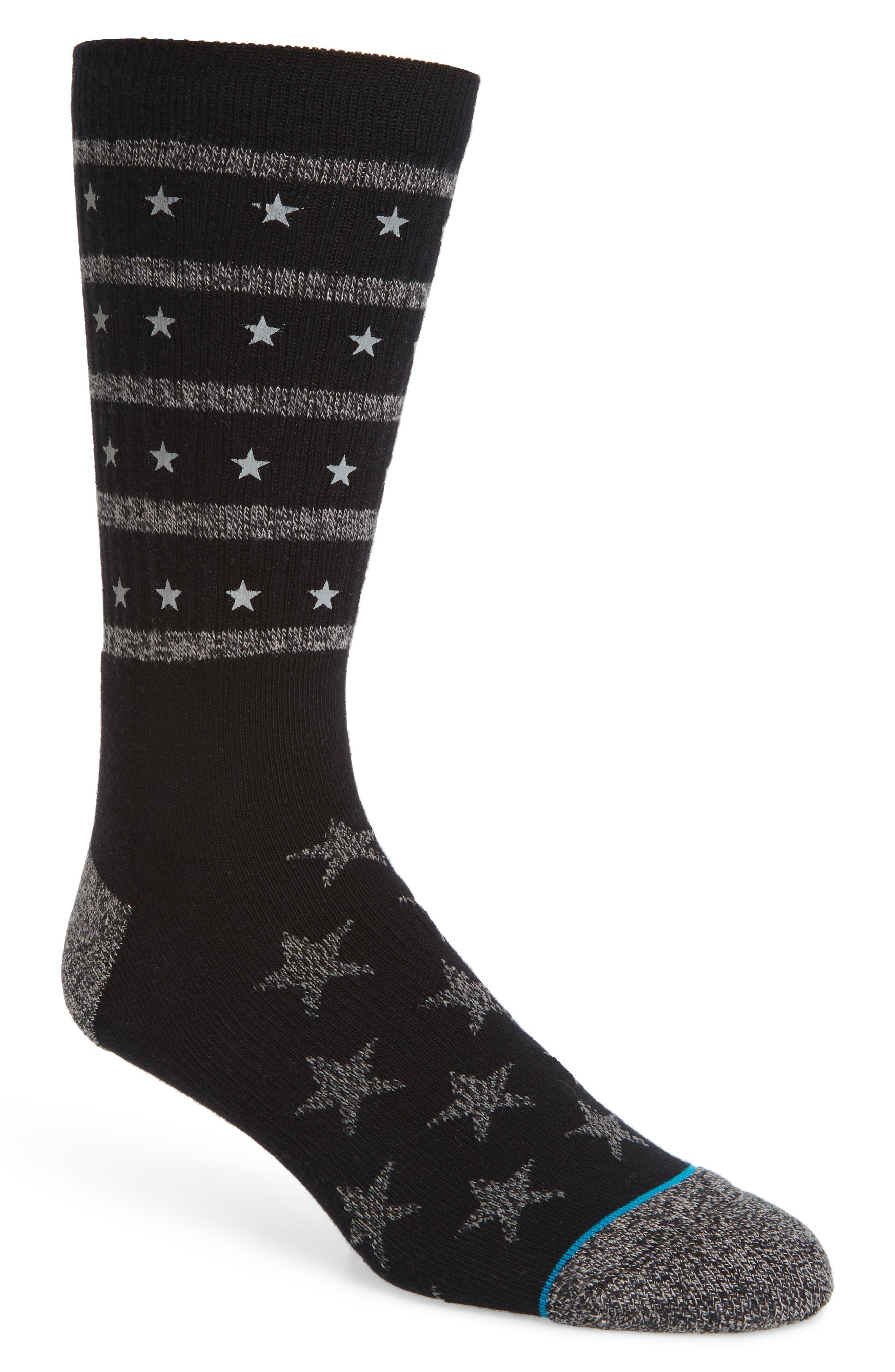 Stacked Socks,                             Main thumbnail 1, color,                             Black