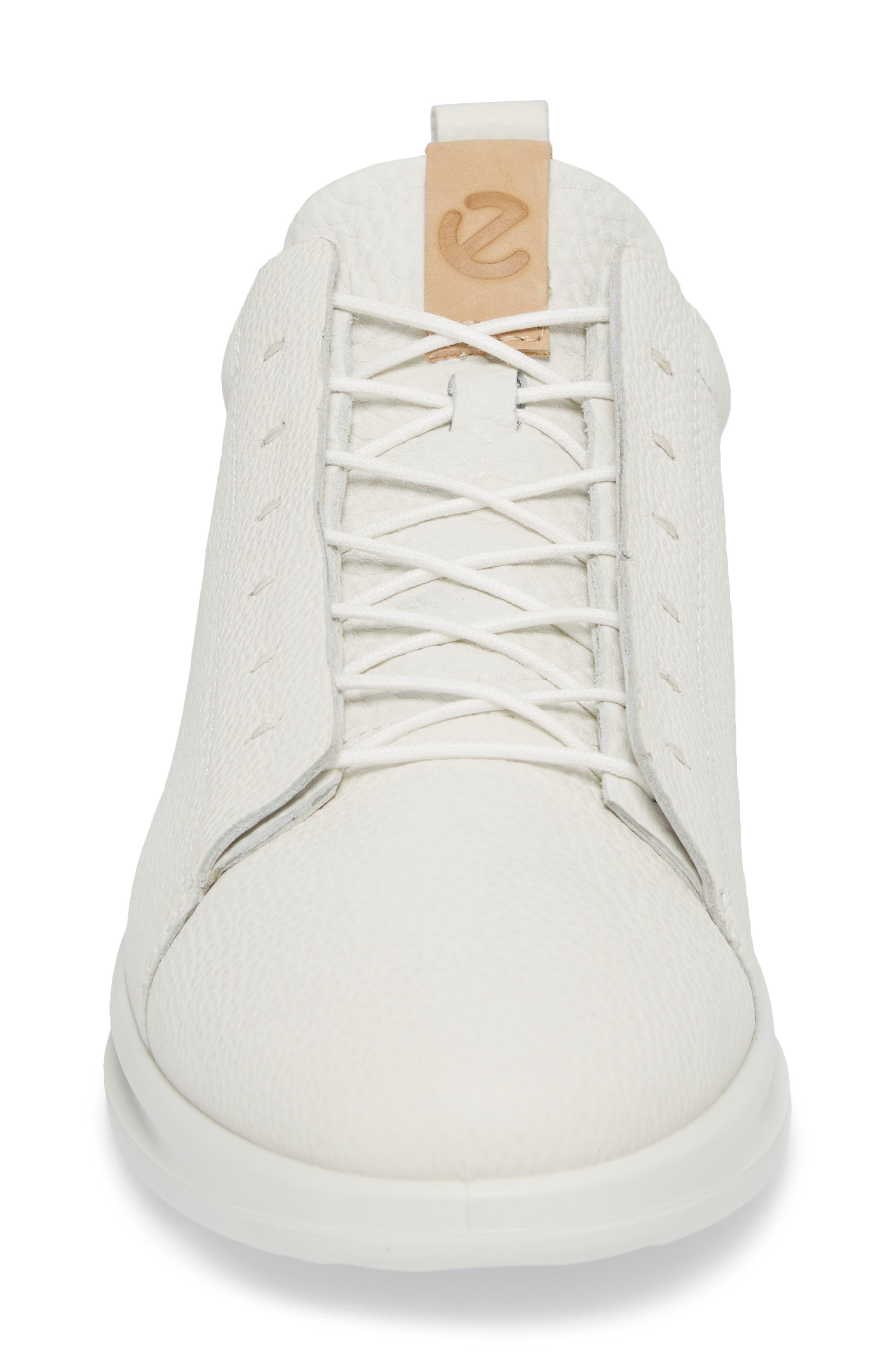 Aquet Low Top Sneaker,                             Alternate thumbnail 4, color,                             White Leather