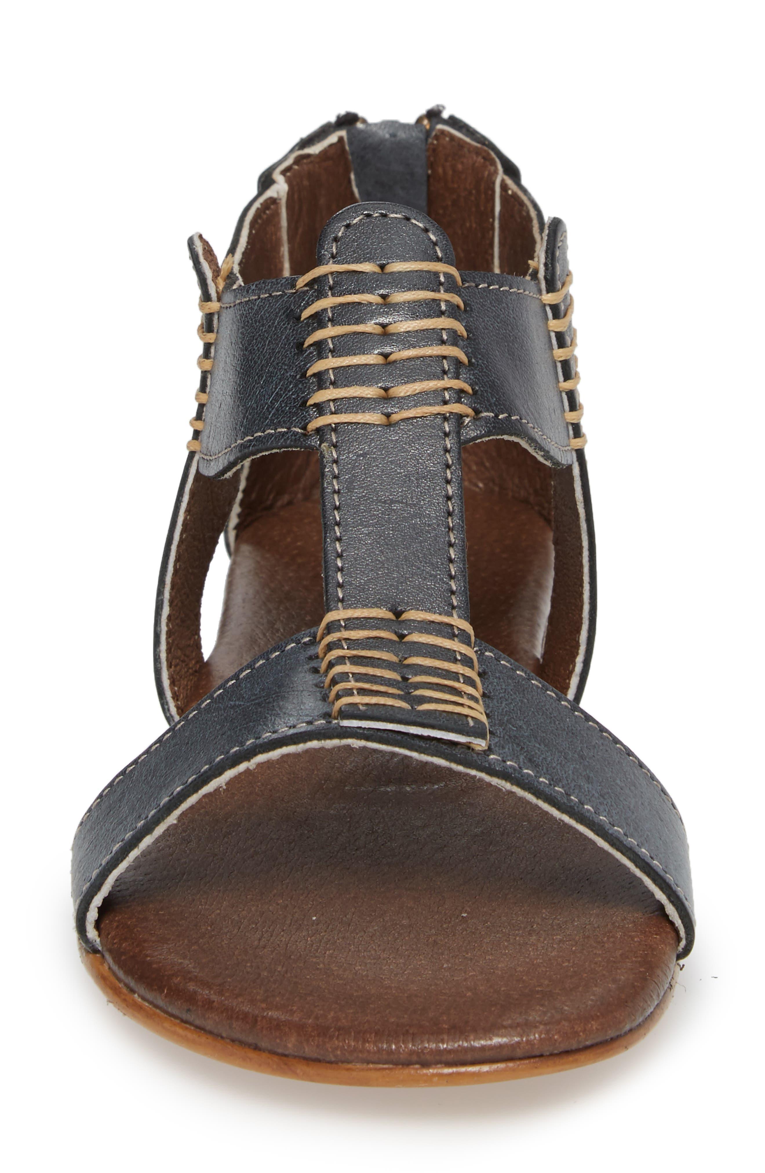 Jocelyn T-Strap Flat Sandal,                             Alternate thumbnail 4, color,                             Sydney Black