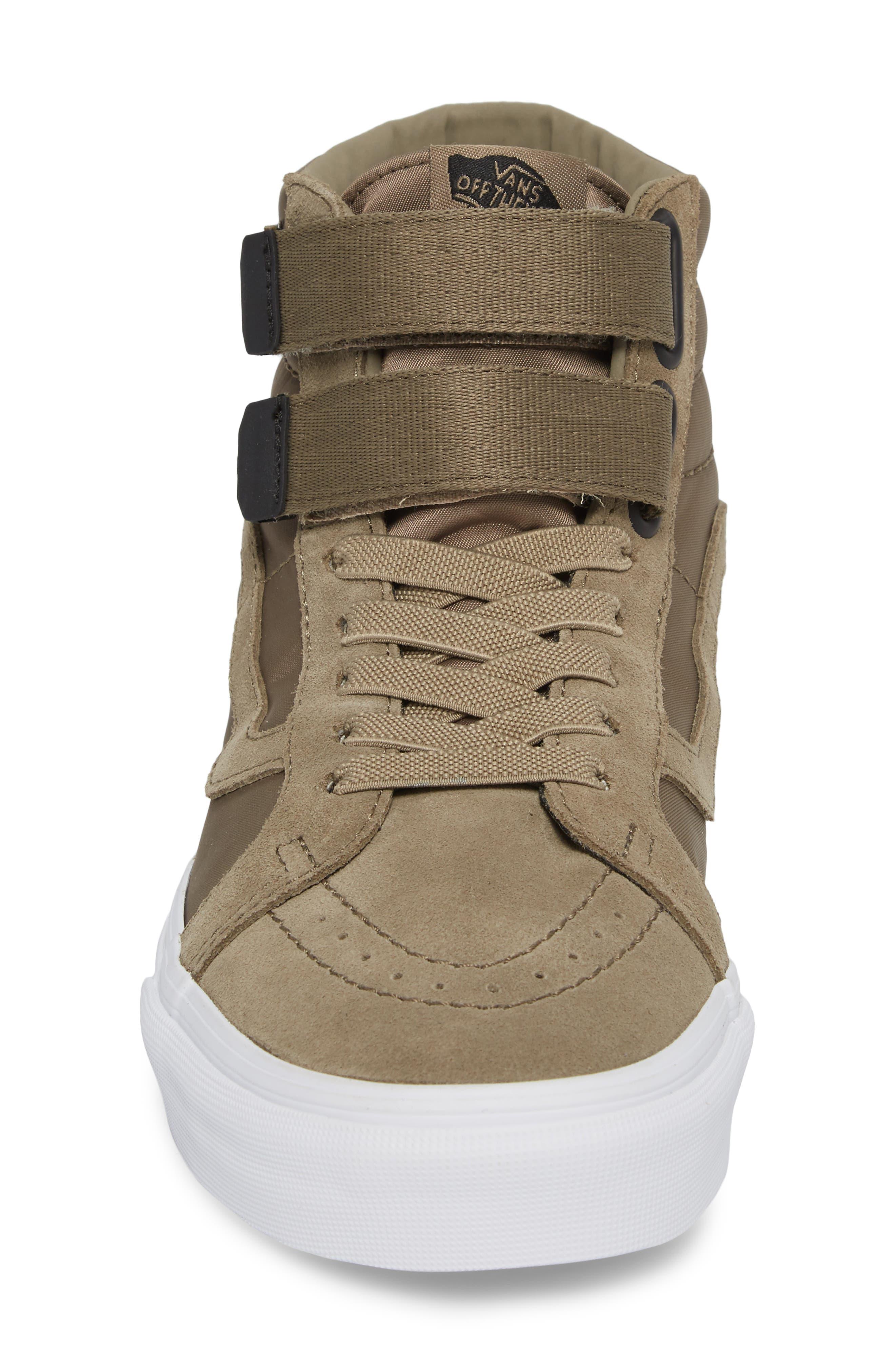 Sk8-Hi Reissue V Sneaker,                             Alternate thumbnail 4, color,                             Dusky Green Leather