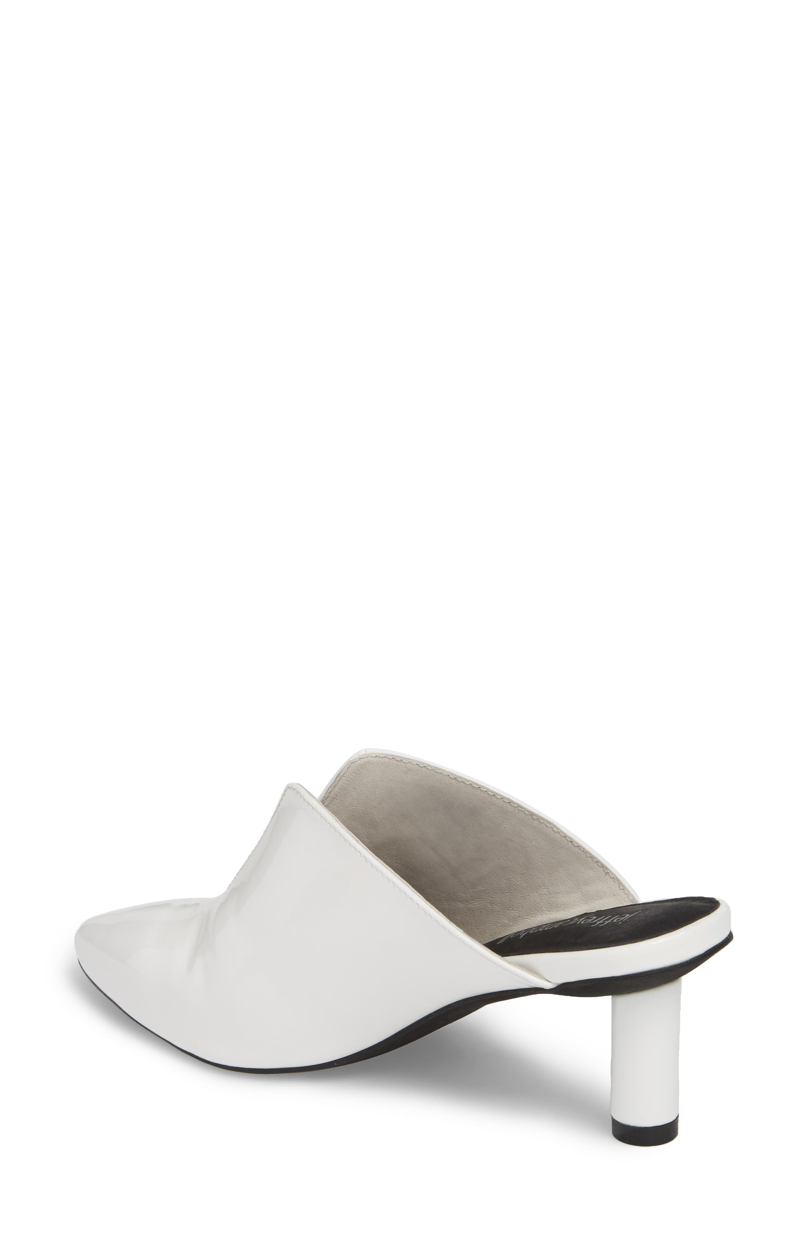 Saltaire Pointy Toe Mule,                             Alternate thumbnail 2, color,                             White Patent Leather