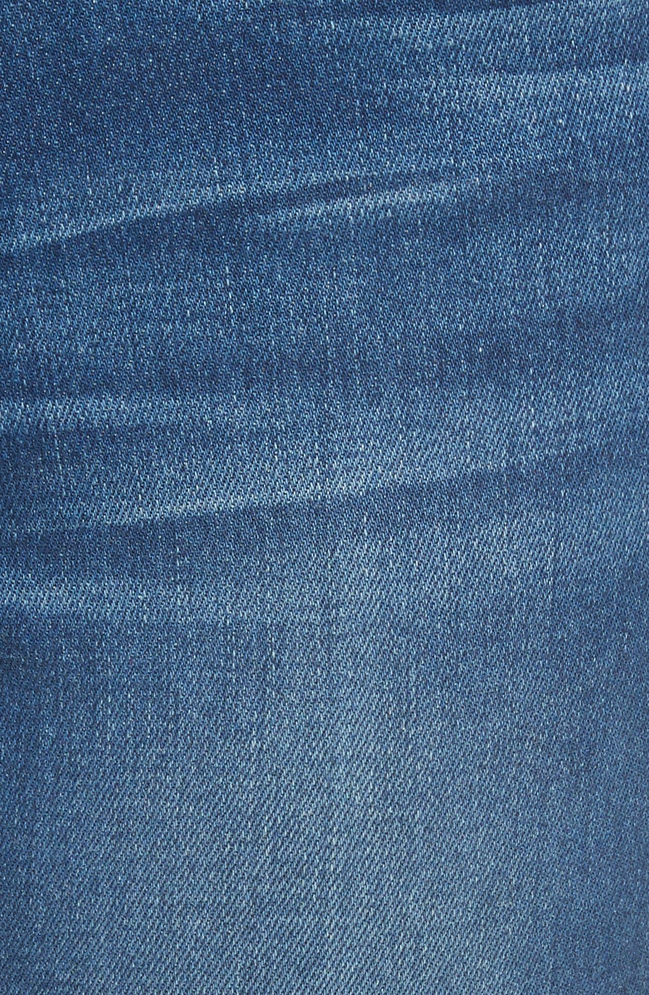 Ali High Waist Skinny Cigarette Jeans,                             Alternate thumbnail 6, color,                             Olympus
