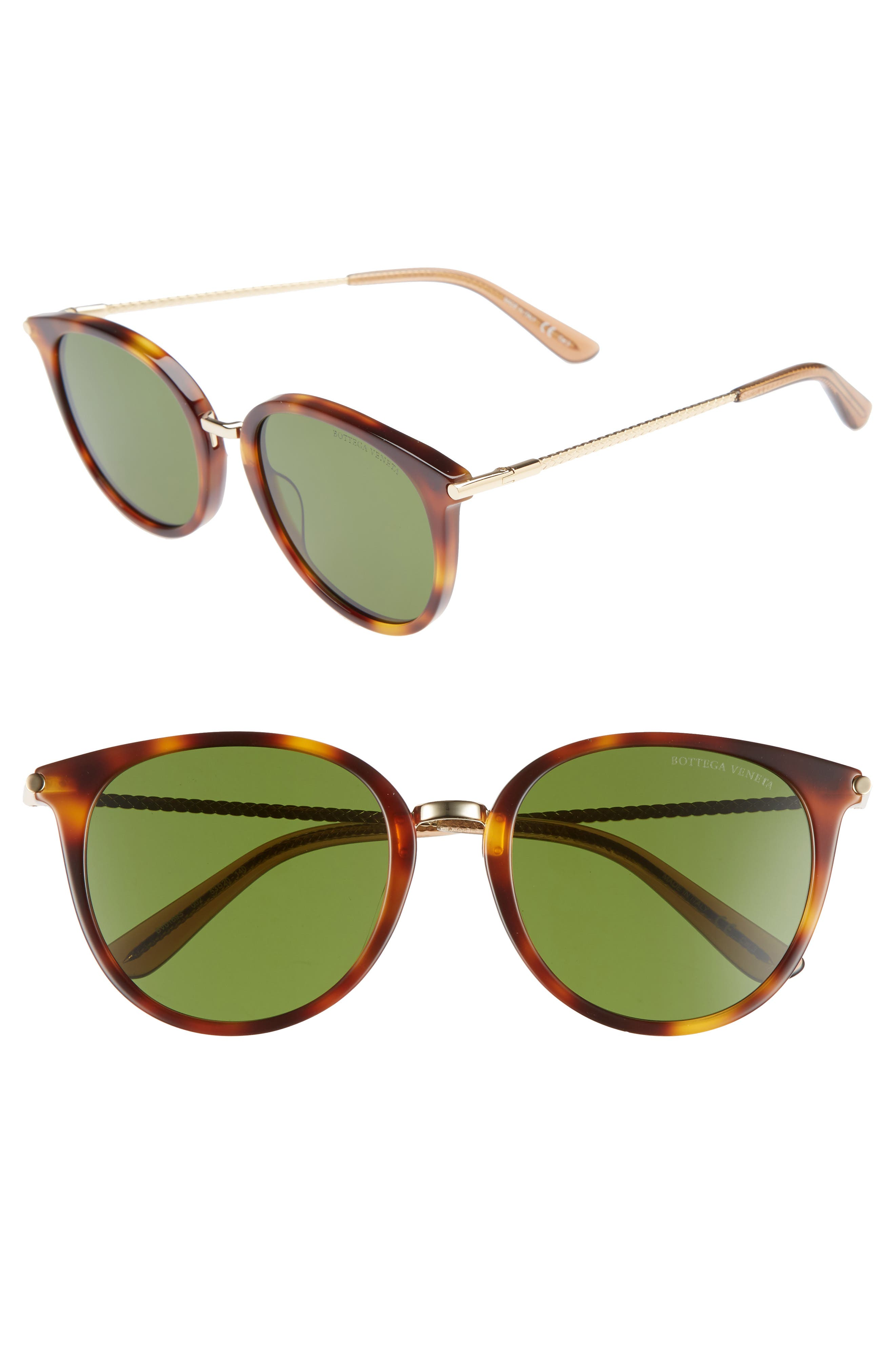 53mm Sunglasses,                         Main,                         color, Brown/ Gold