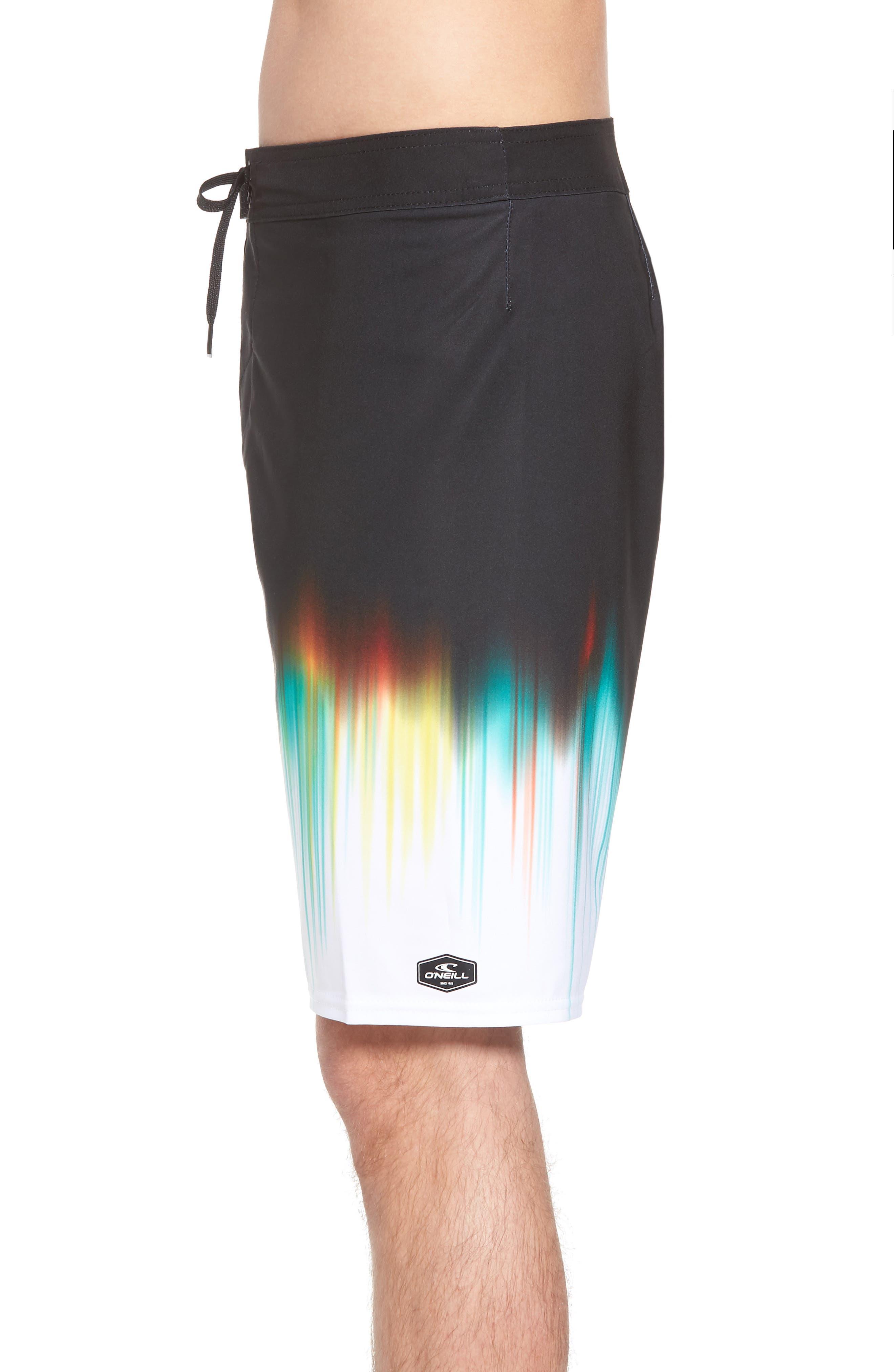Hyperfreak Drippin' Board Shorts,                             Alternate thumbnail 3, color,                             Black